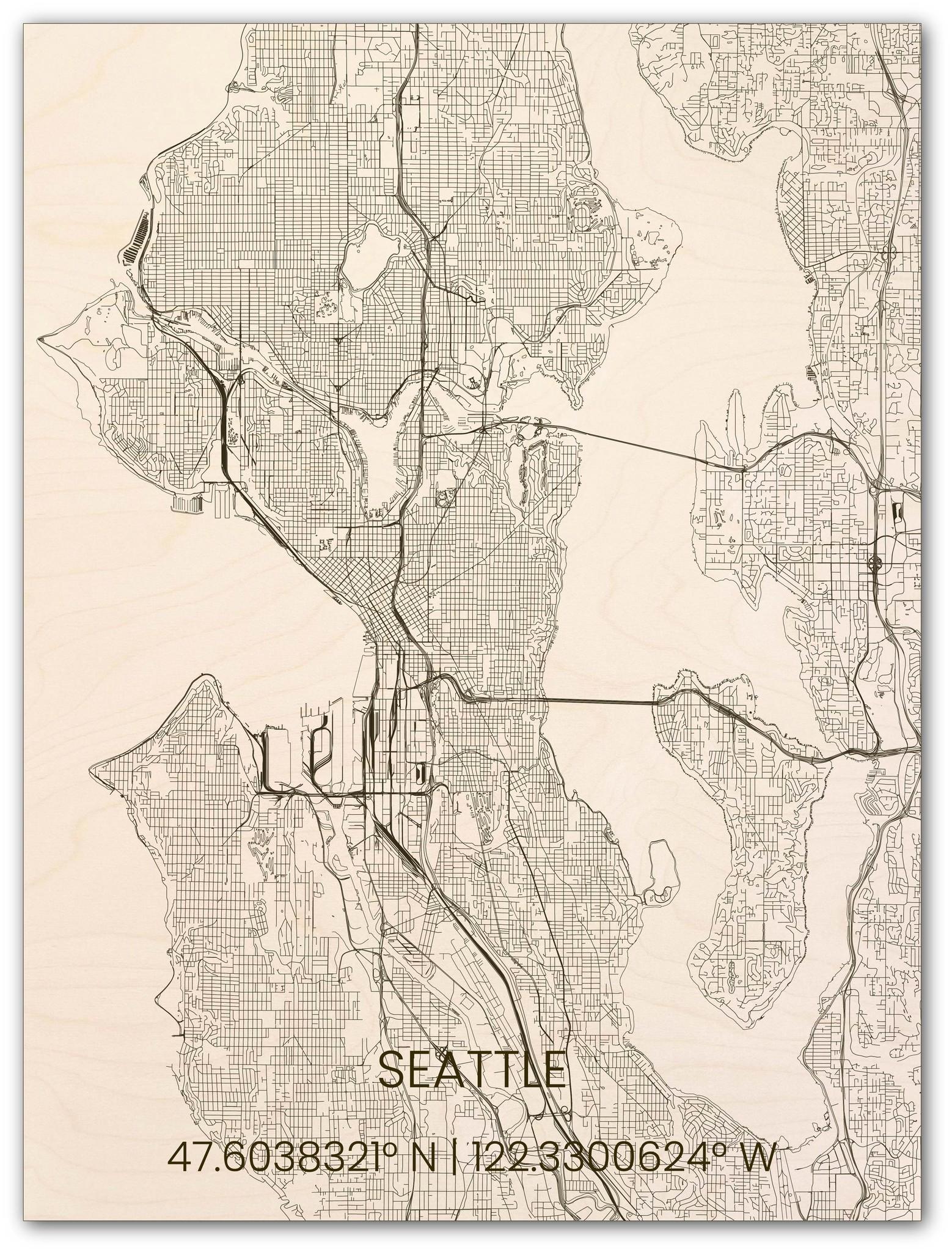 Hölzerner Stadtplan Seattle-1