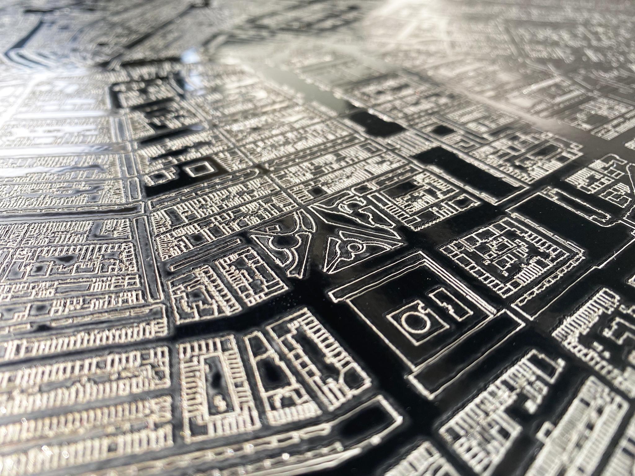 Metalen stadsplattegrond Seattle-2