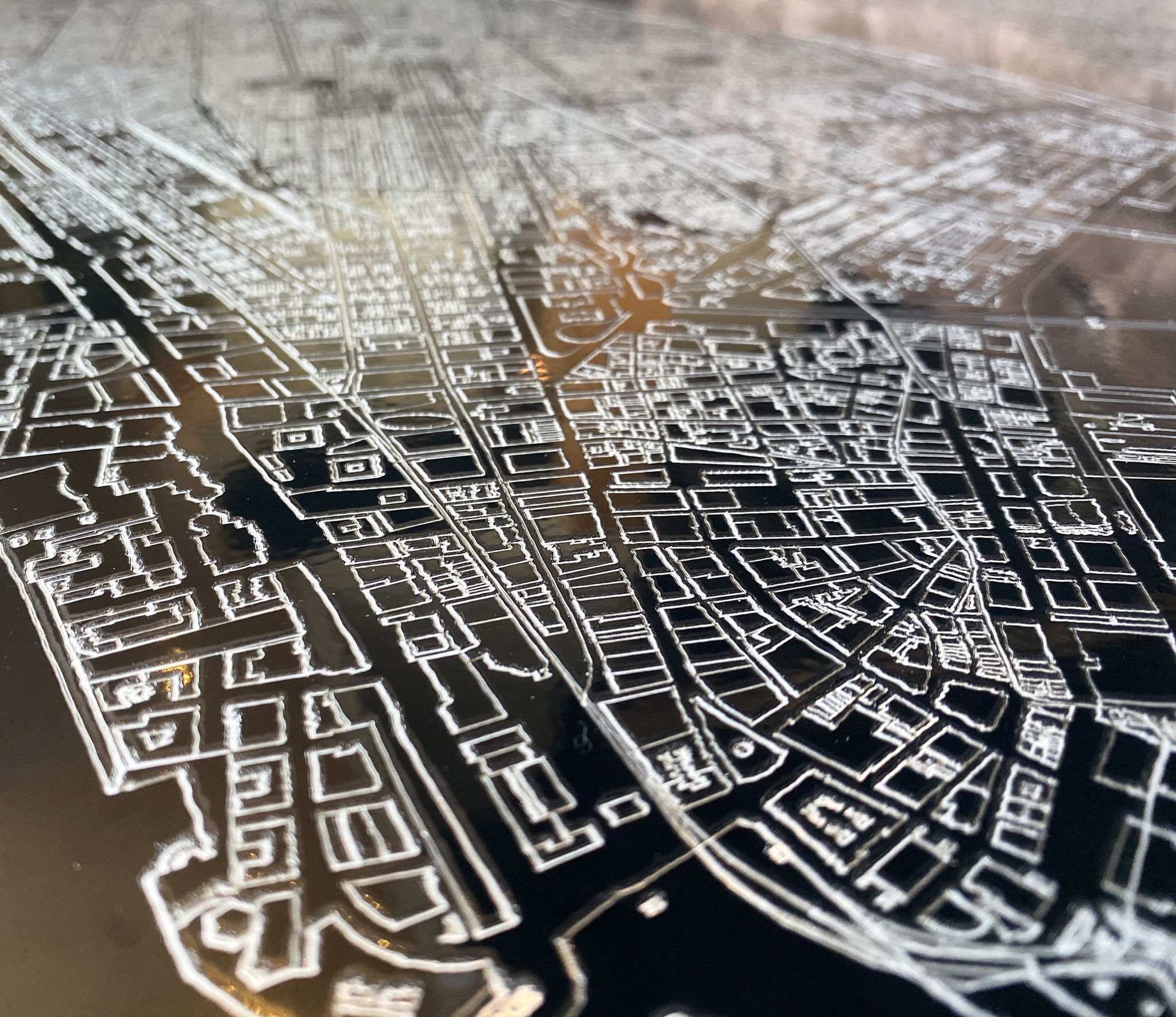 Metalen stadsplattegrond Seattle-3