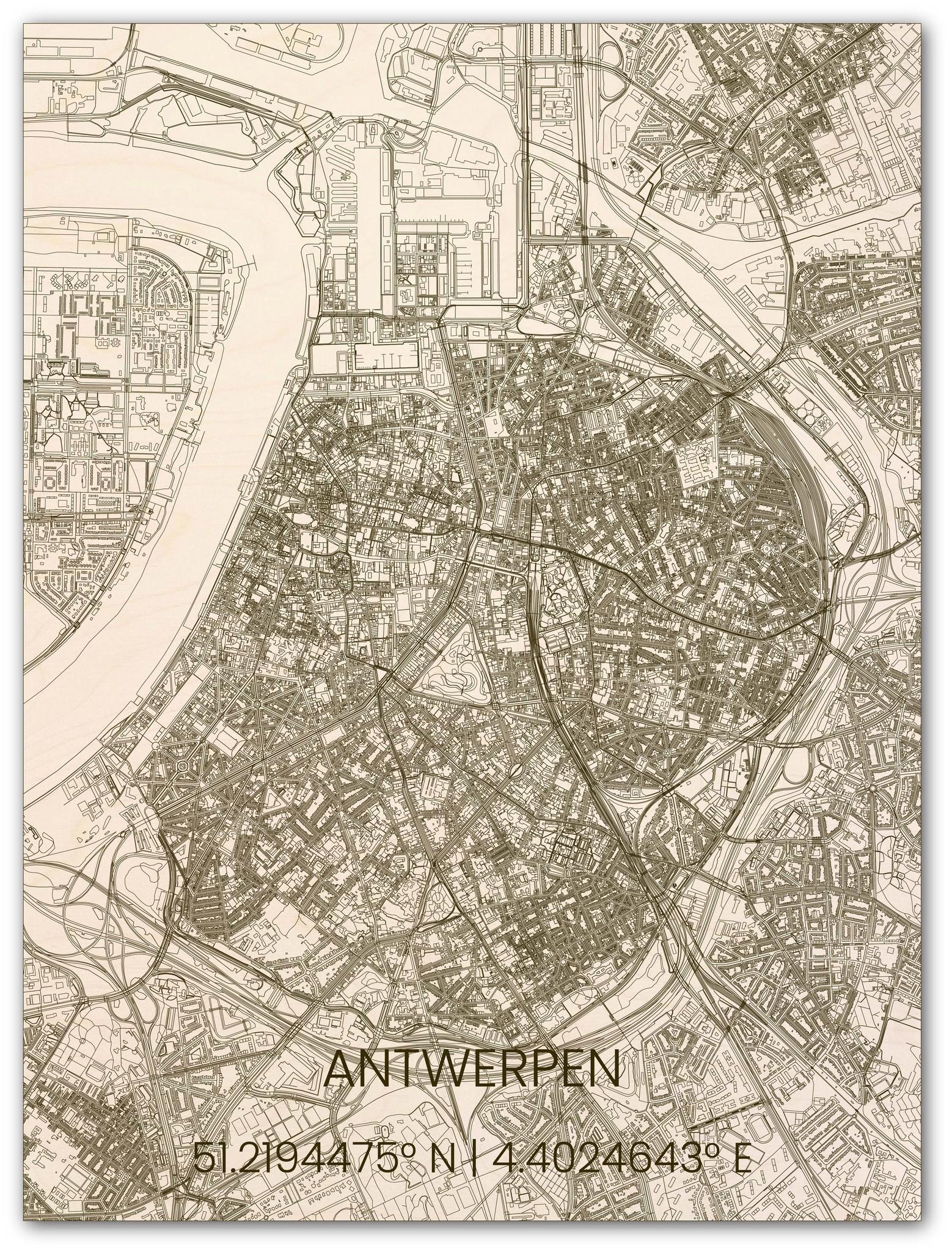 Hölzerner Stadtplan Antwerpen-1