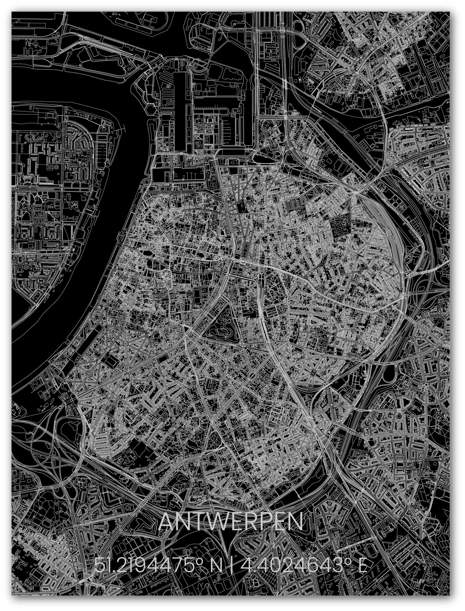 Metalen stadsplattegrond Antwerpen-1