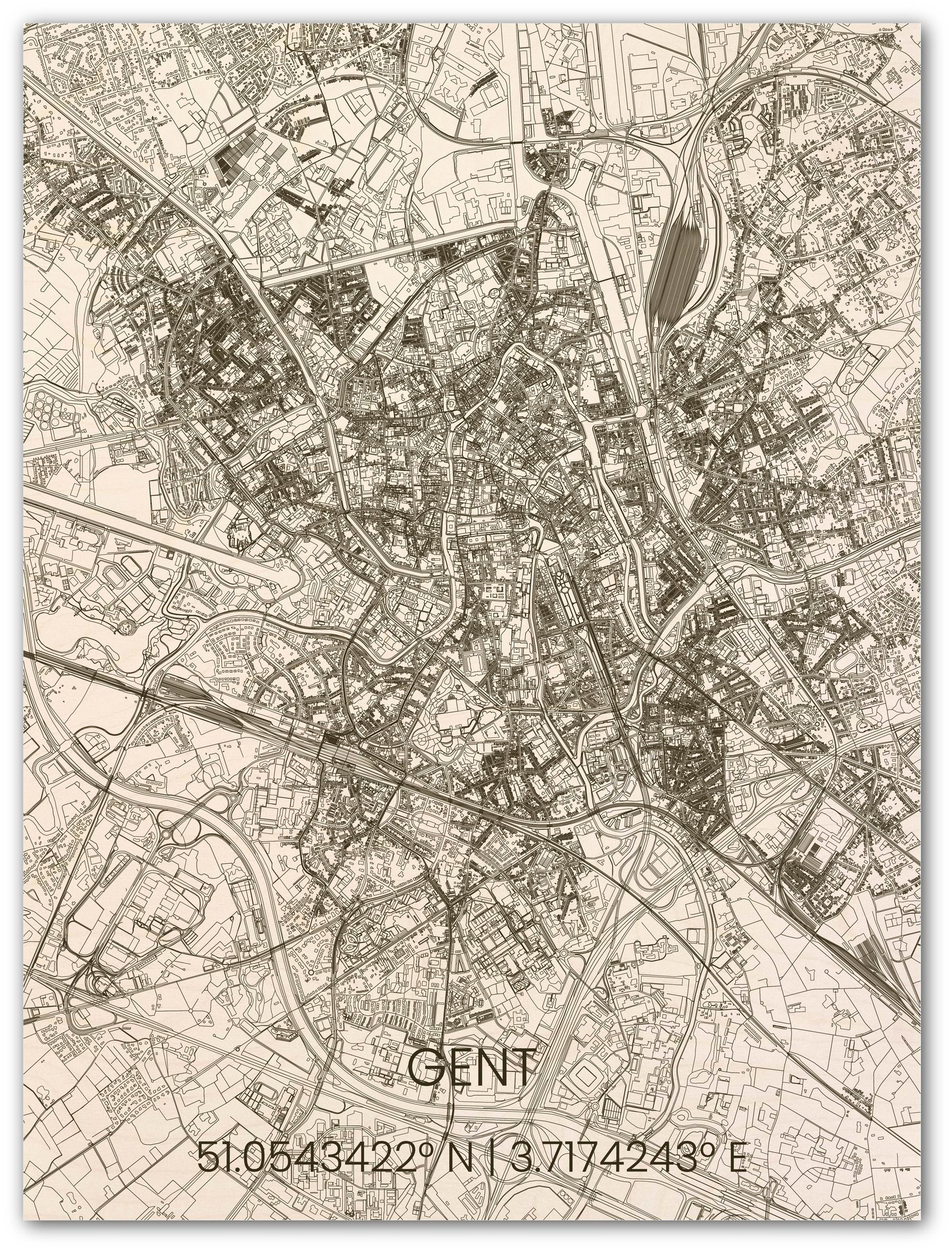 Hölzerner Stadtplan Gent-1
