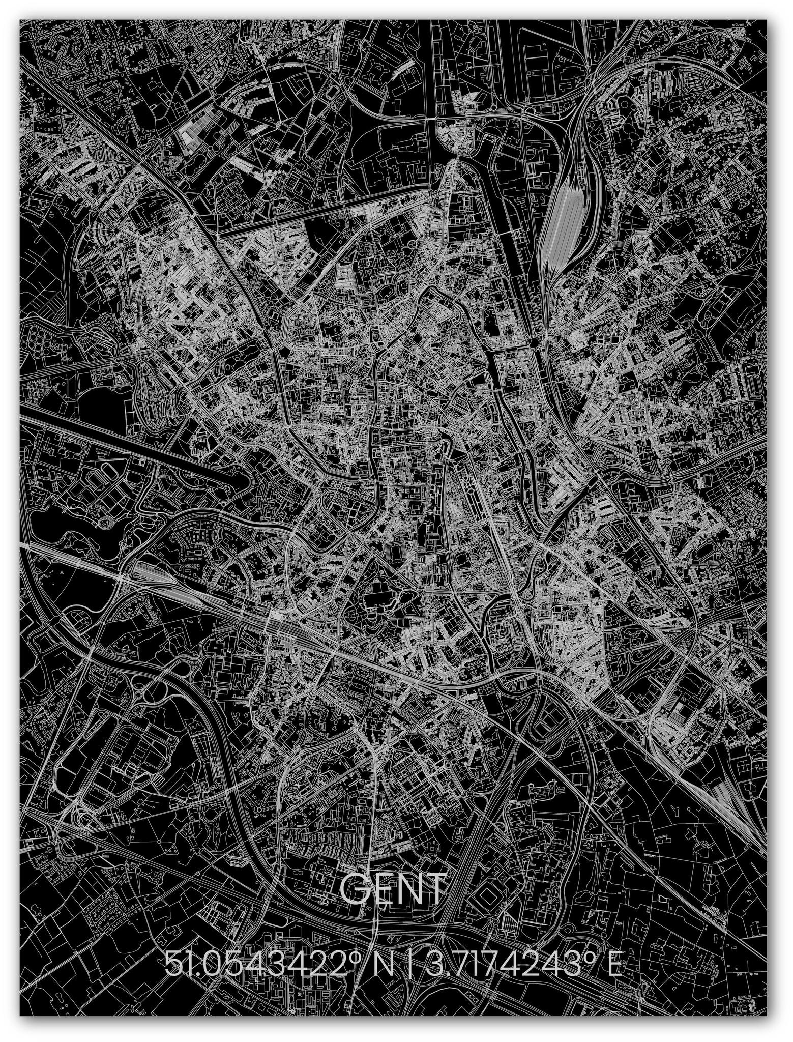 Metal citymap Gent-1
