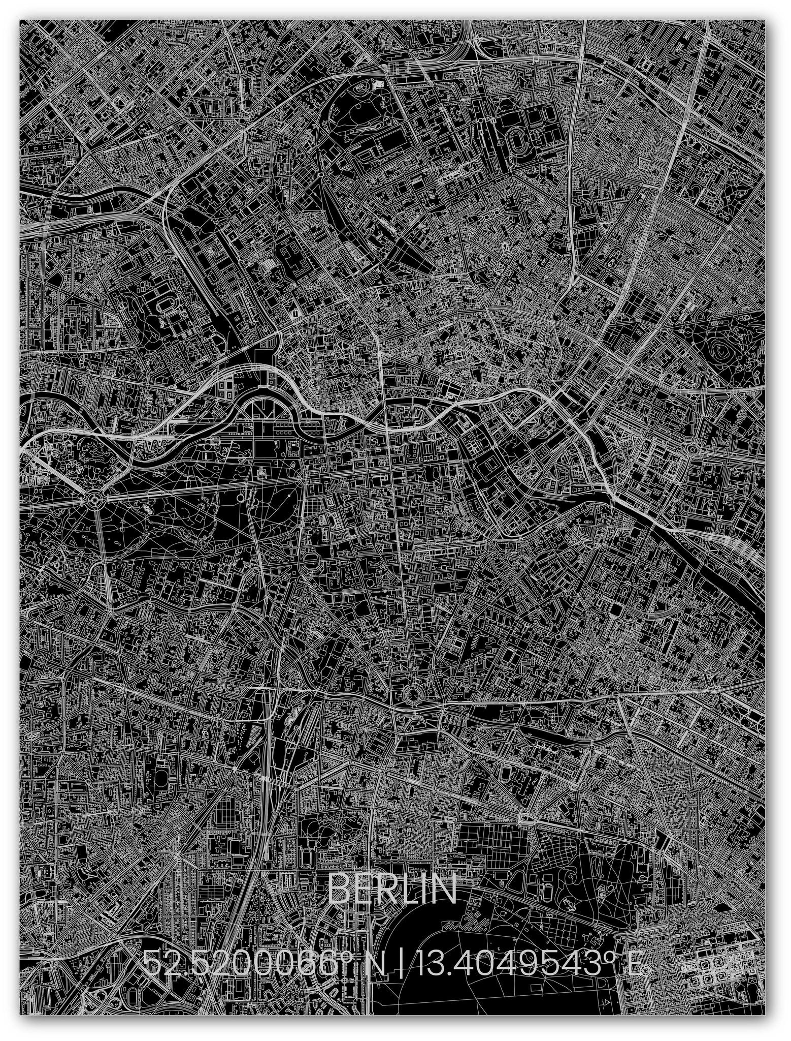 Metalen stadsplattegrond Berlijn-1