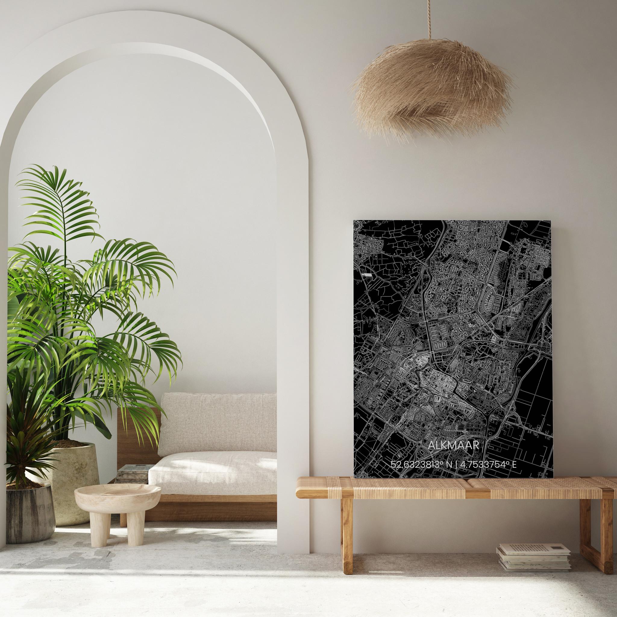 Metalen stadsplattegrond Alkmaar-2