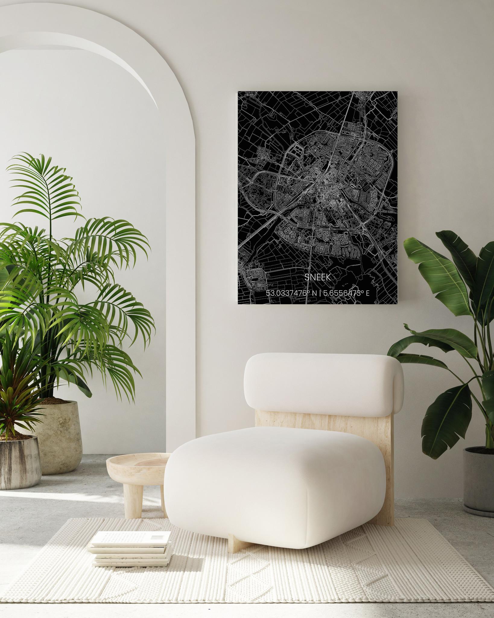 Stadtkarte Metal Sneek-2