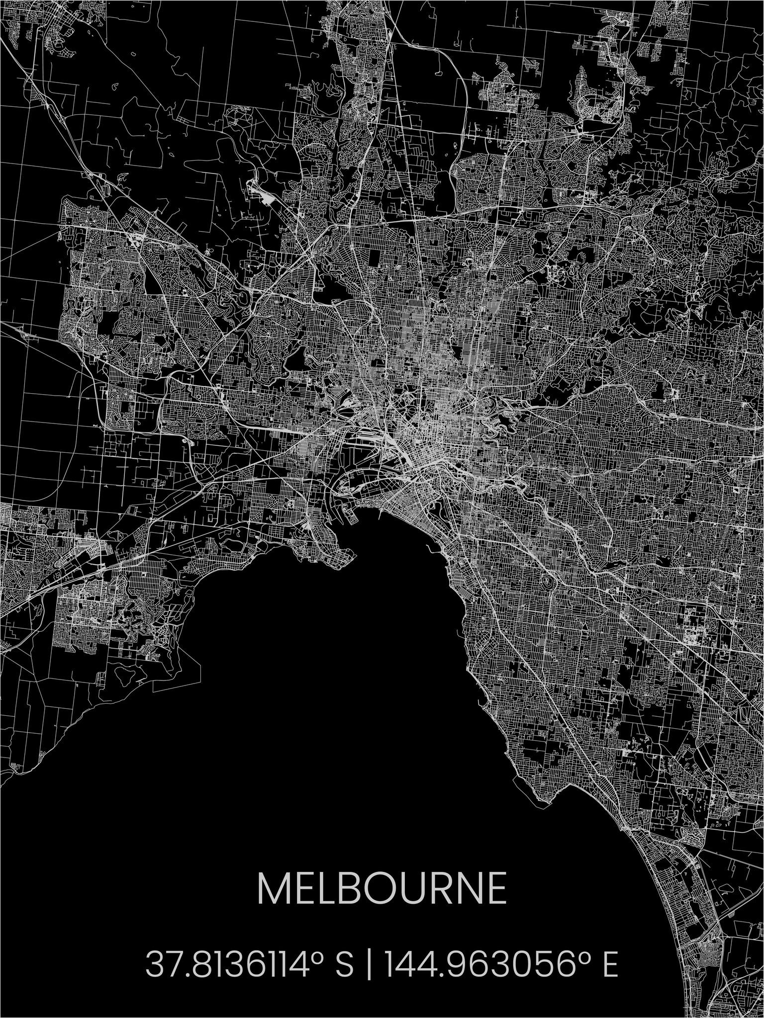 Metal citymap Melbourne-1