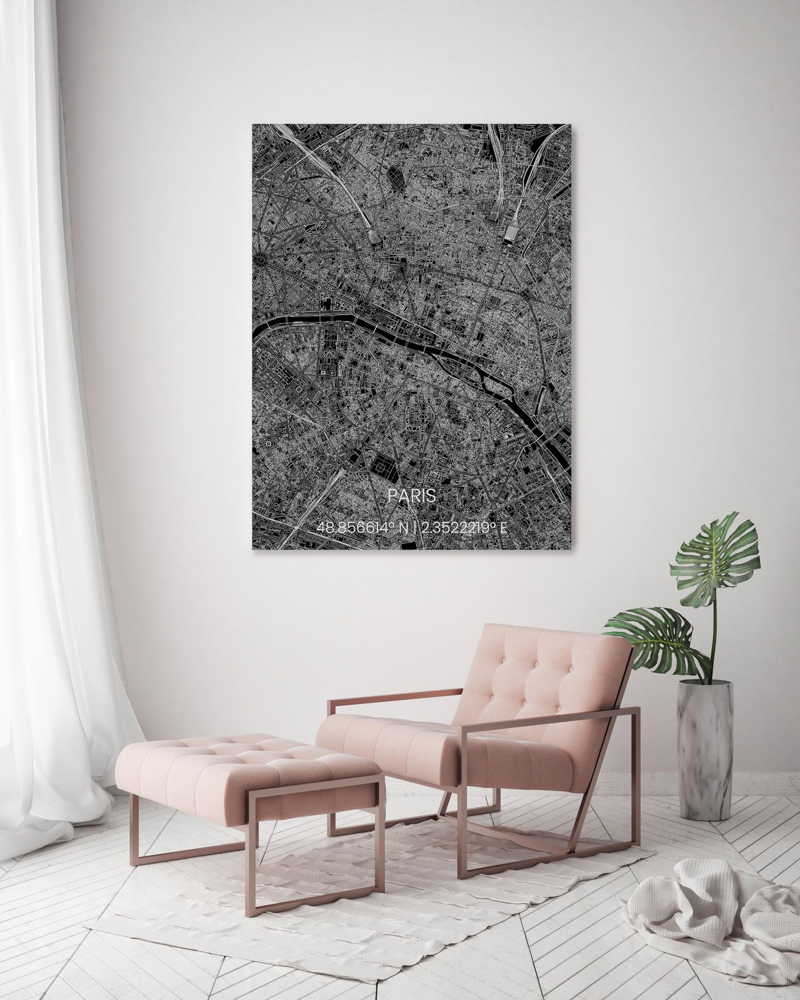 Stadtkarte Metal Paris-2