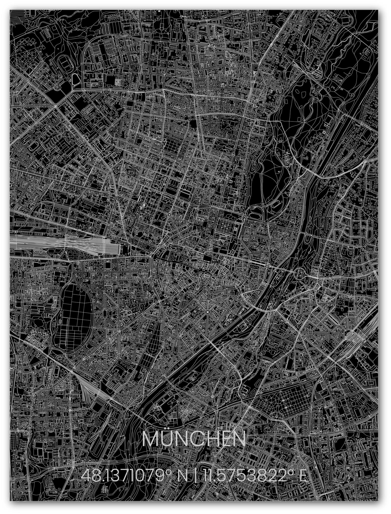 Stadtkarte Metal München-1