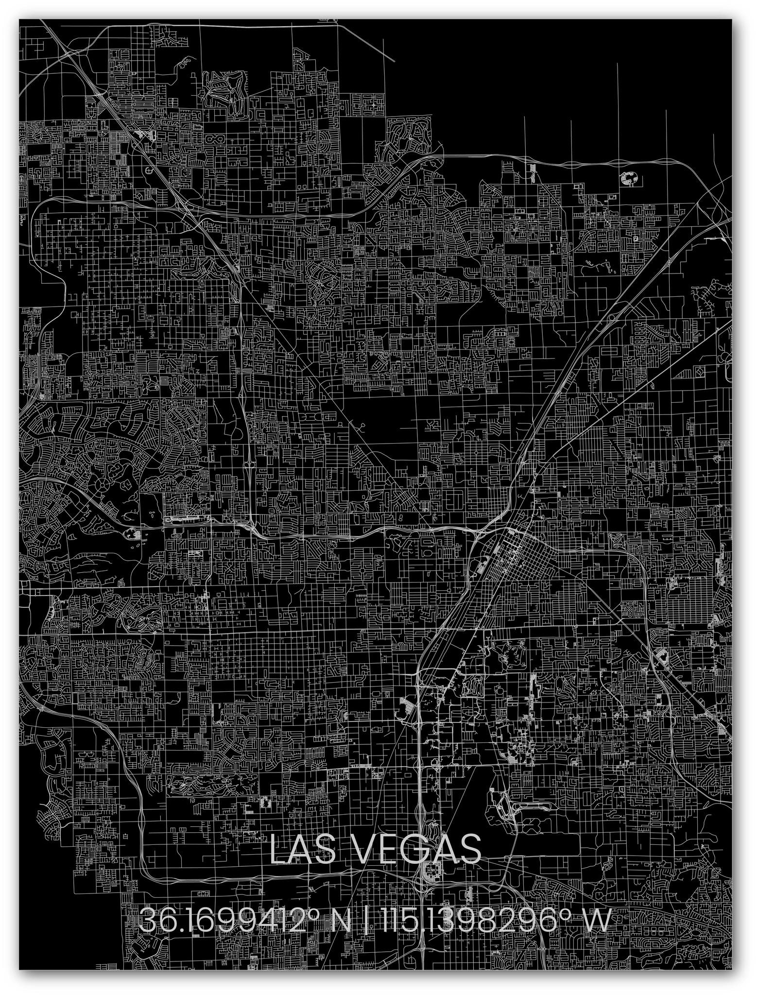 Metal citymap Las Vegas-1