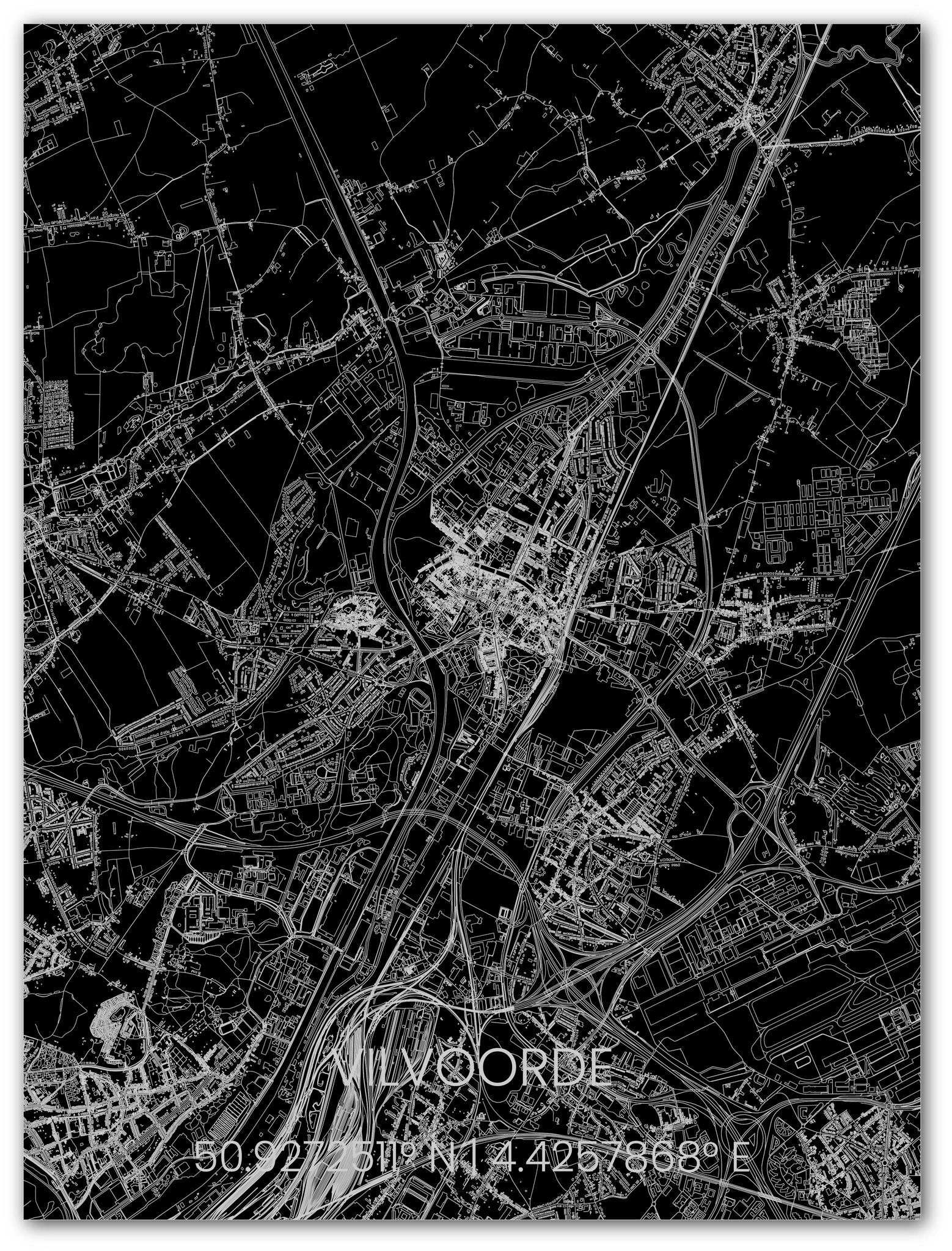 Metalen stadsplattegrond Vilvoorde-1
