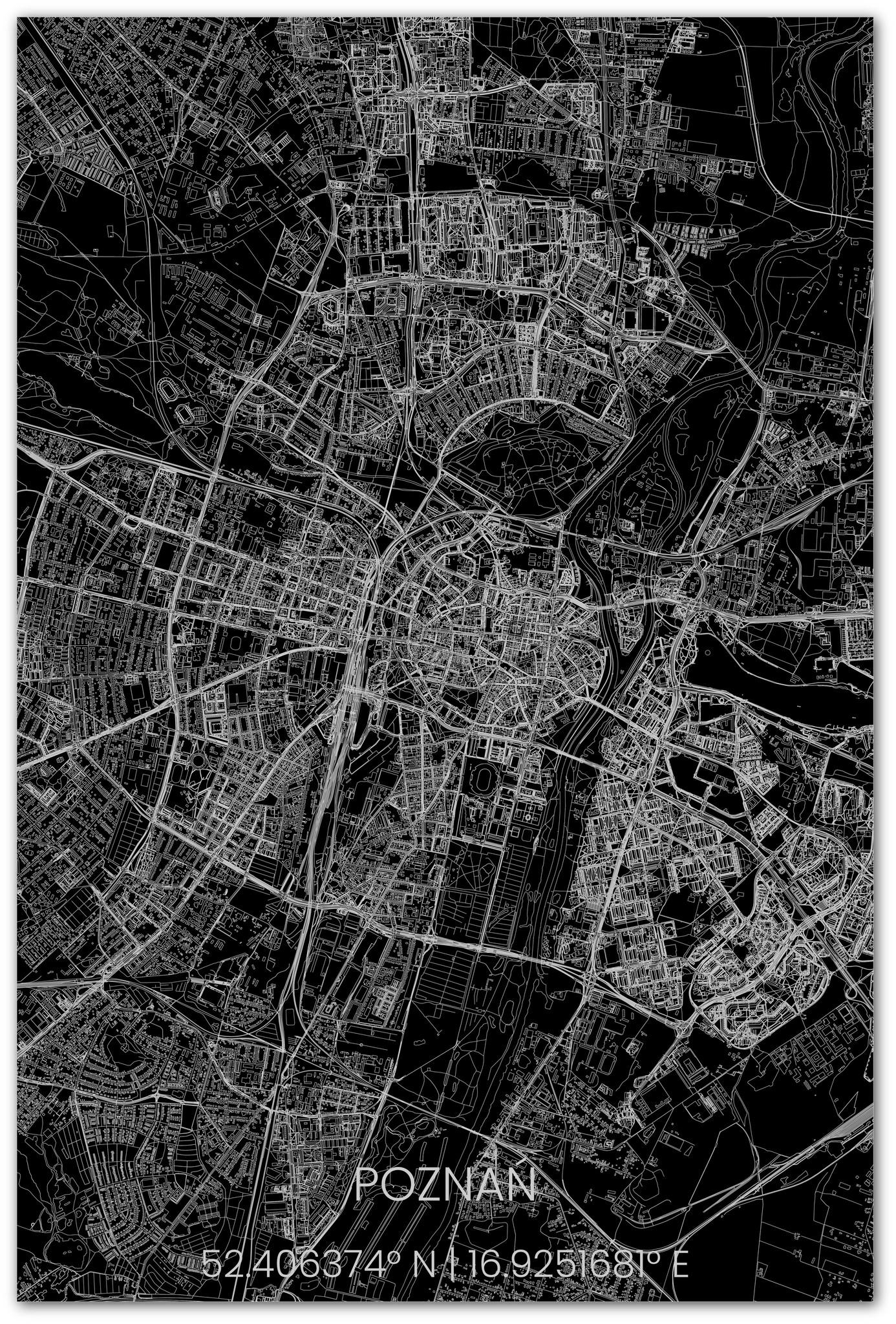 Stadsplattegrond Poznań XL-2