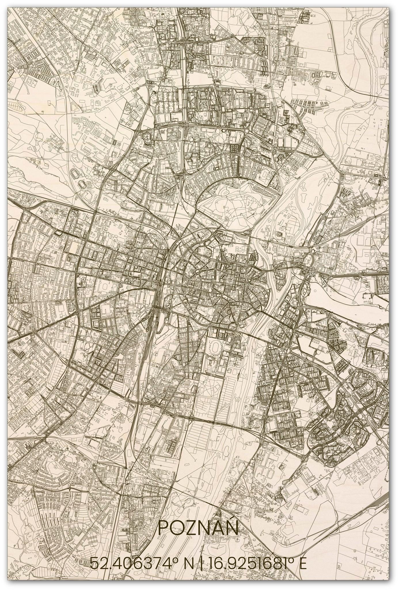 Stadsplattegrond Poznań XL-1