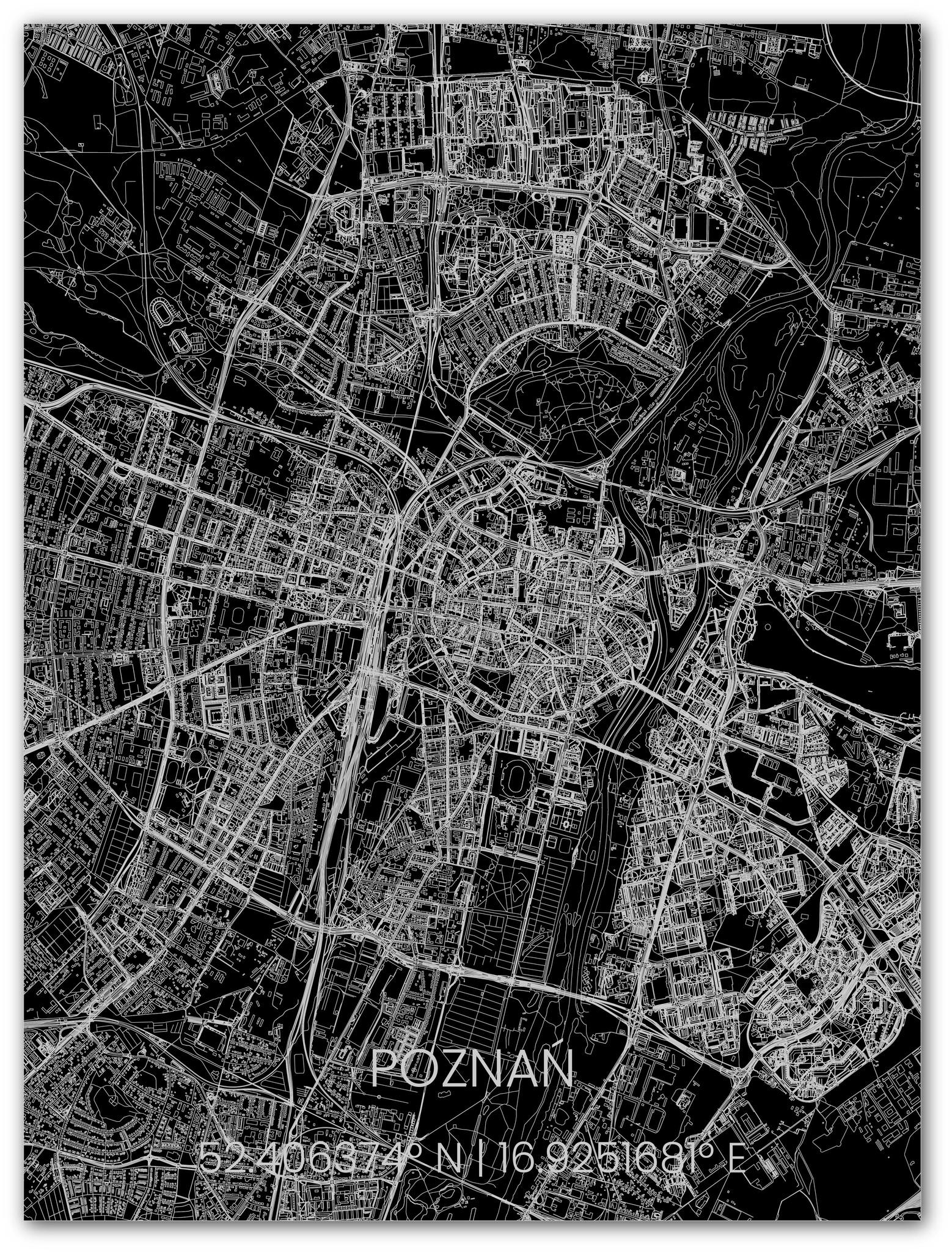 Stadtkarte Metal Poznań-1