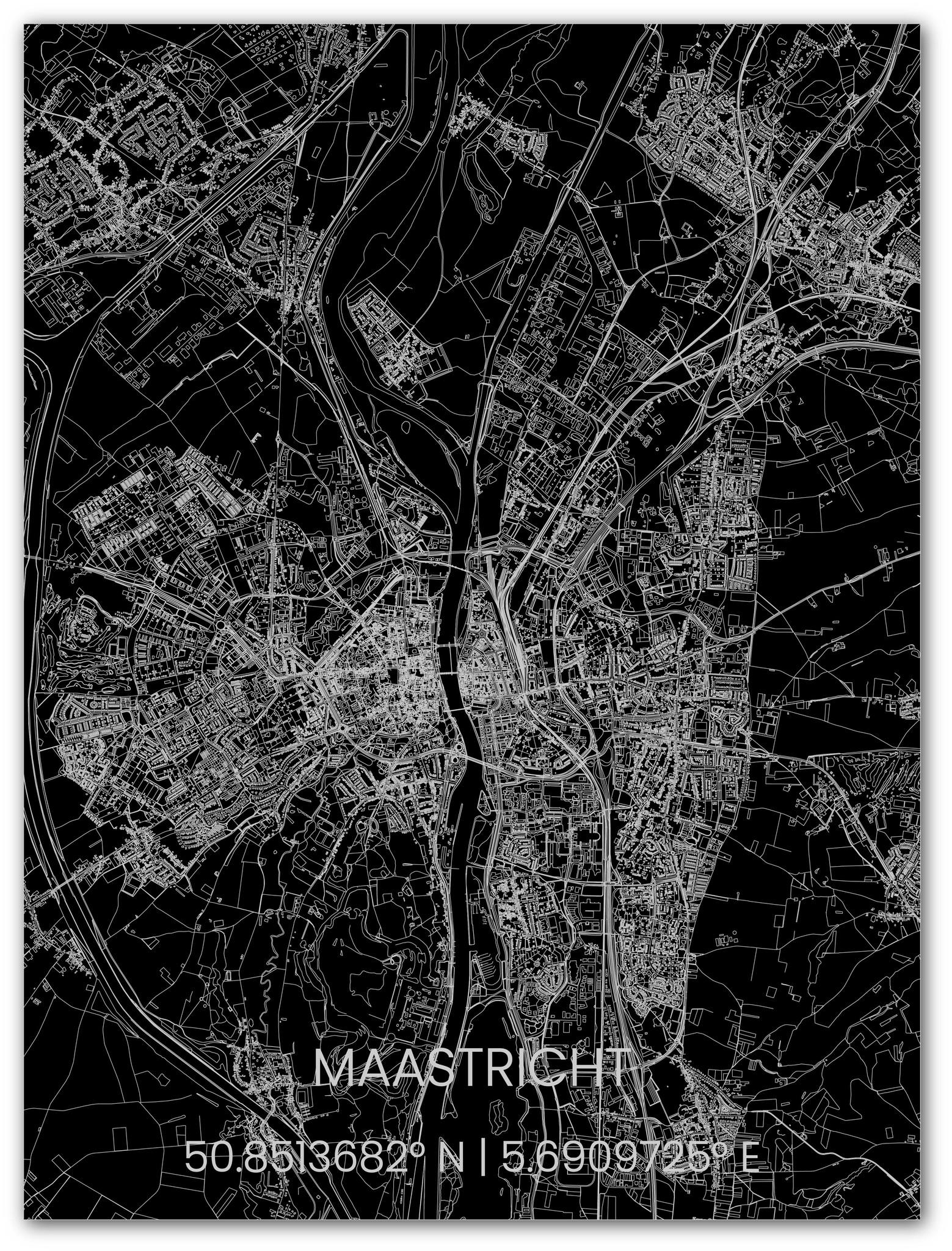 Metalen stadsplattegrond Maastricht-1