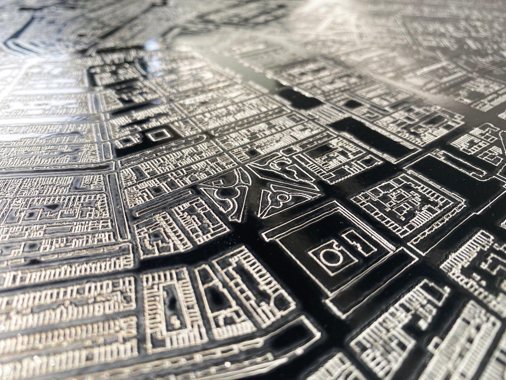 Stadtplan Dordrecht | Wanddekoration Metal-3