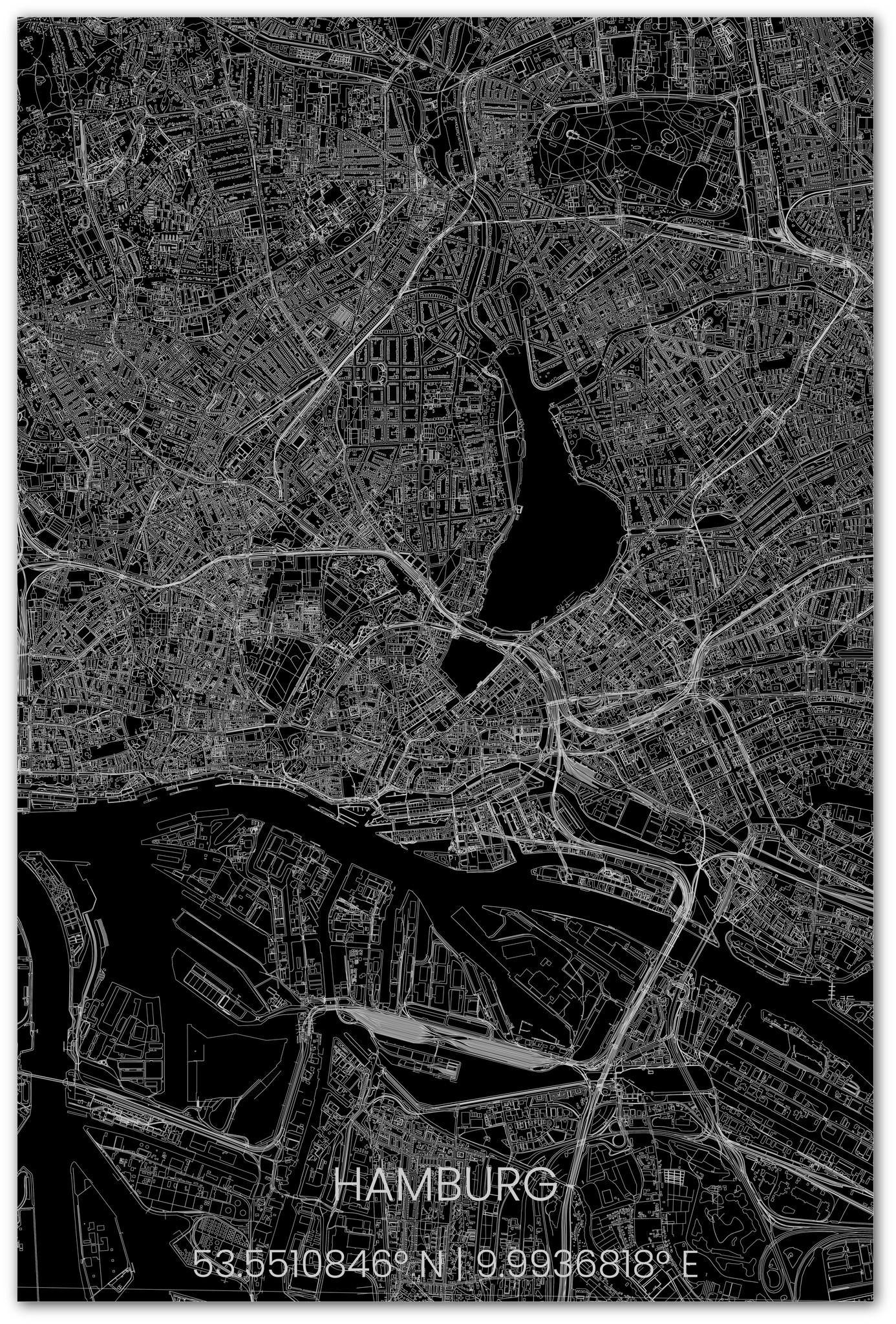 Stadsplattegrond Hamburg XL-2