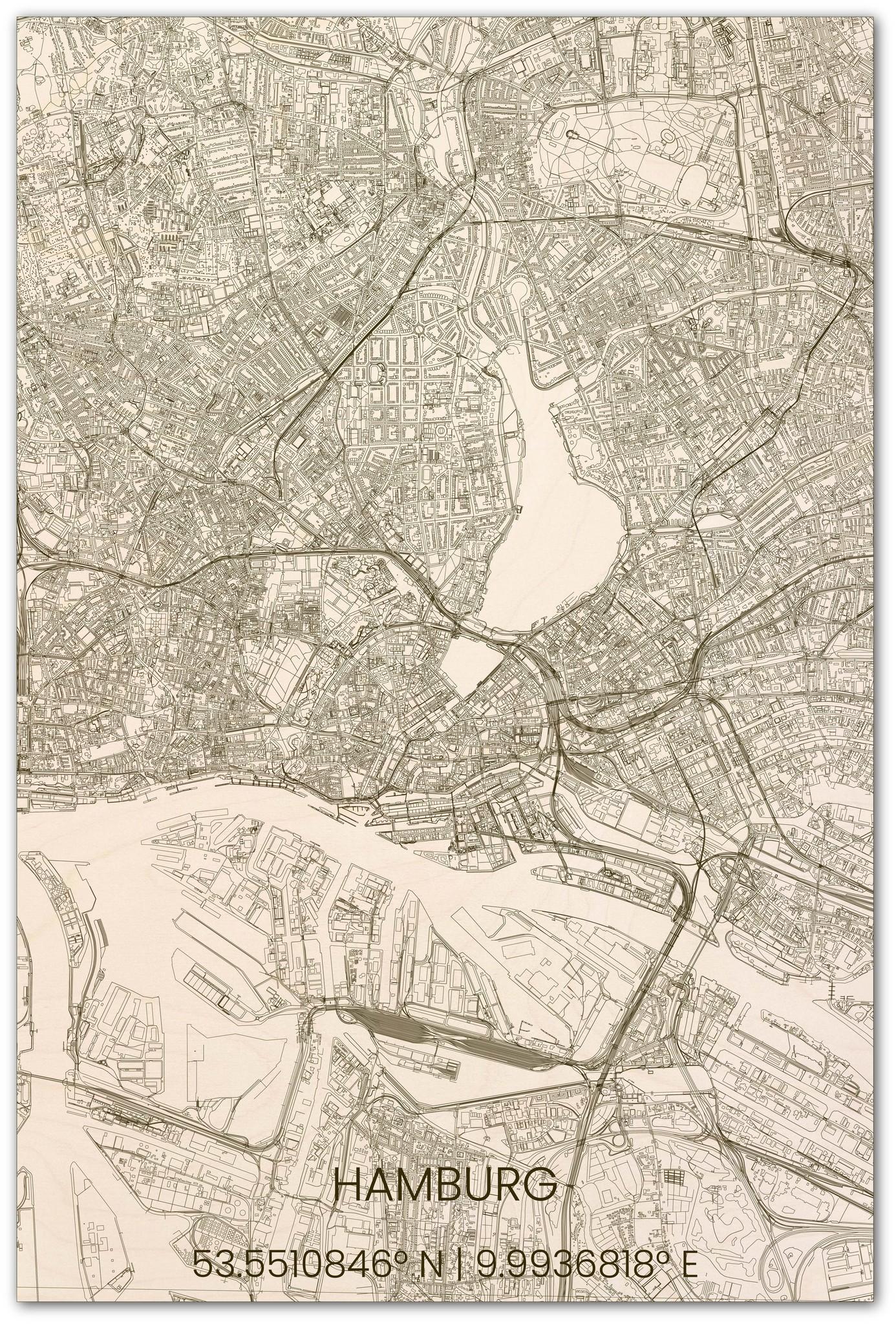 Stadsplattegrond Hamburg XL-1