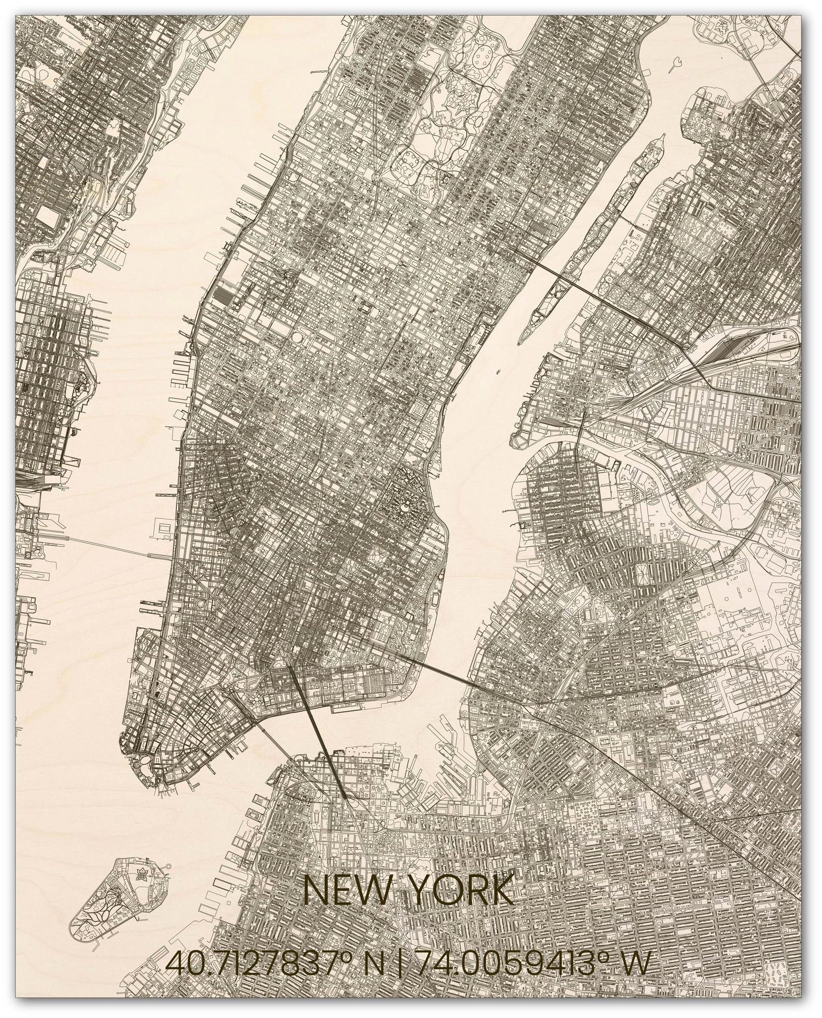 Hölzerner Stadtplan New York-3