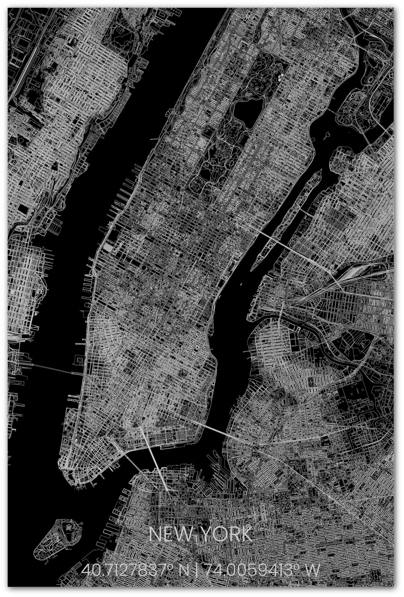 Stadsplattegrond New York XL-2