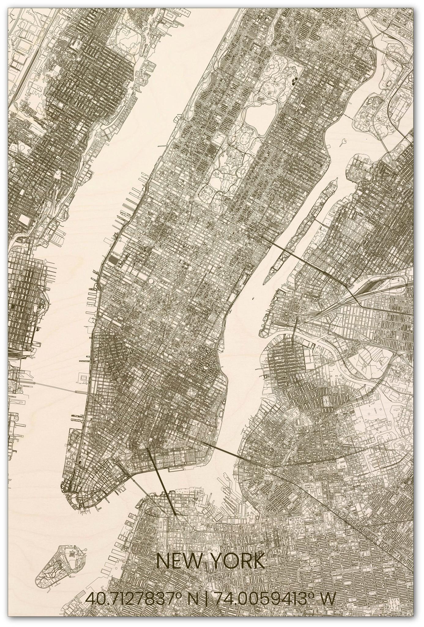 Stadsplattegrond New York XL-1