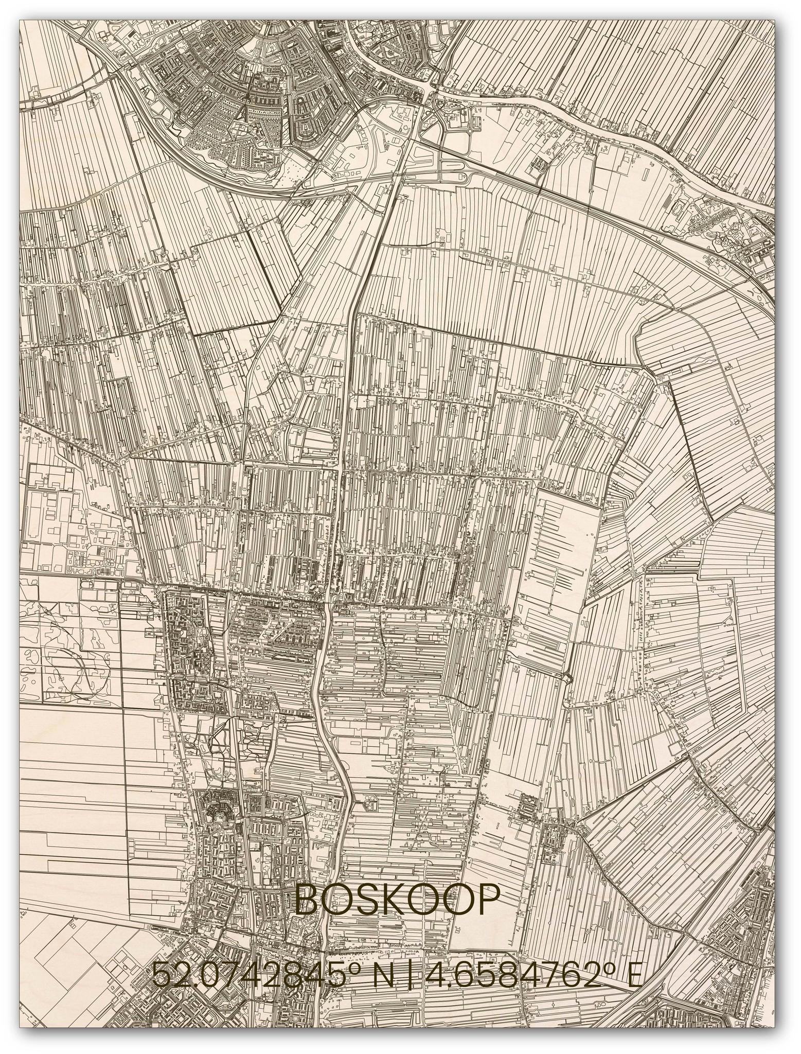 Houten stadsplattegrond Boskoop-1