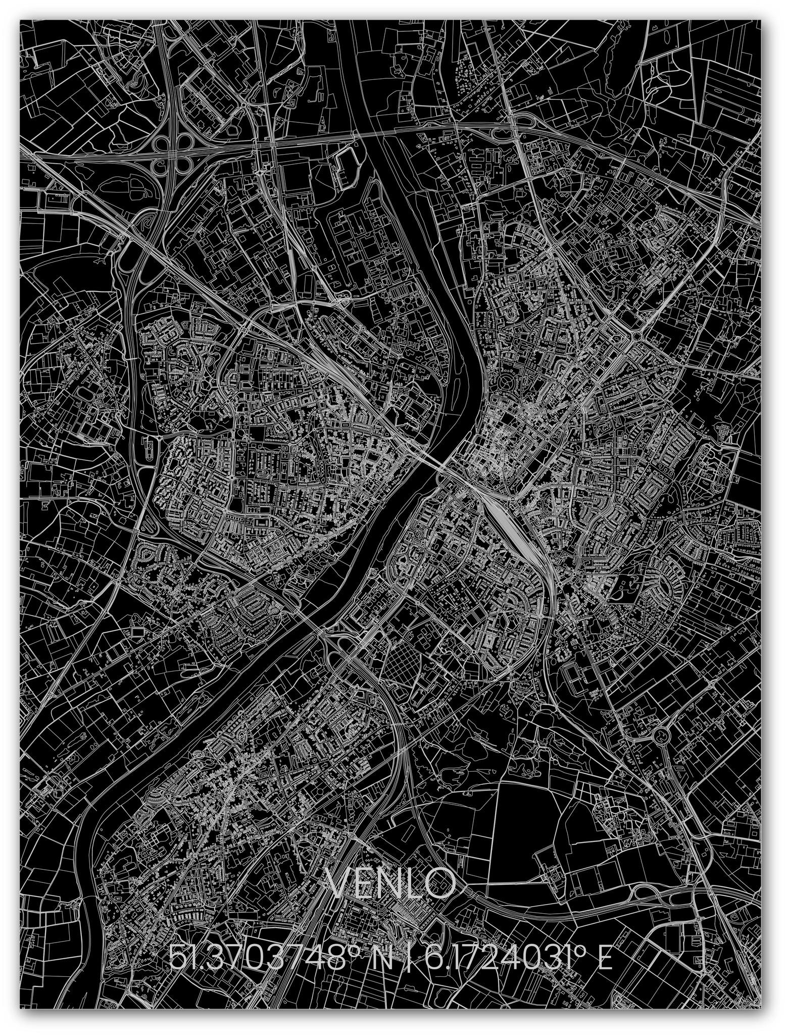 Metalen stadsplattegrond Venlo-1