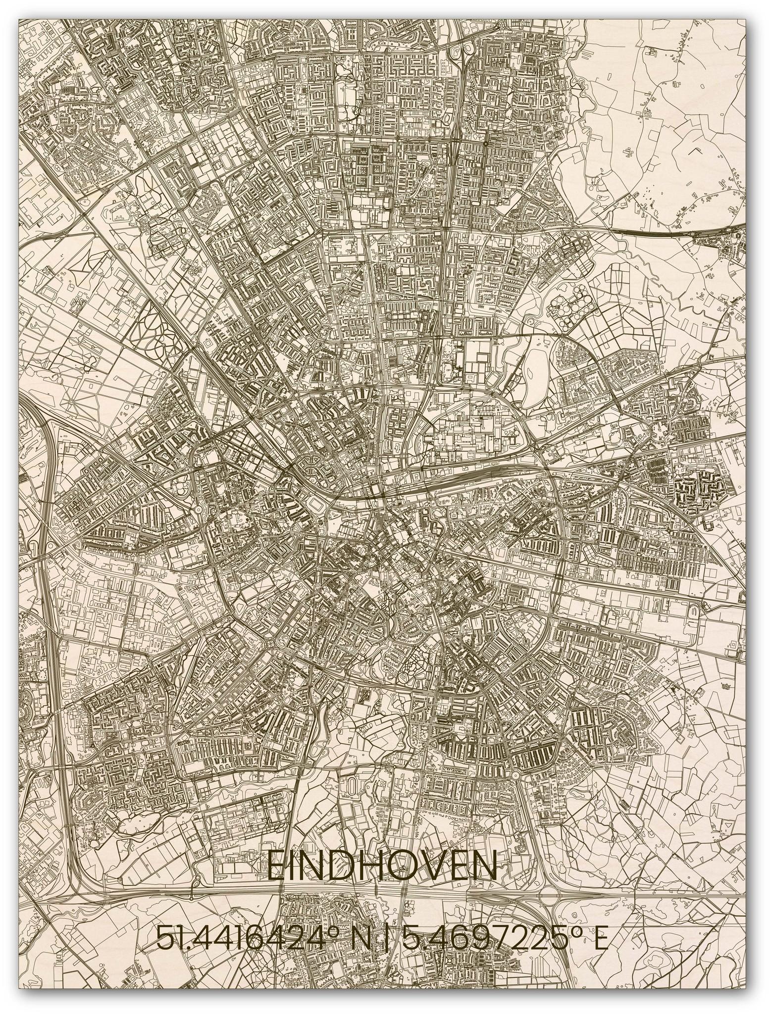 Hölzerner Stadtplan Eindhoven-1