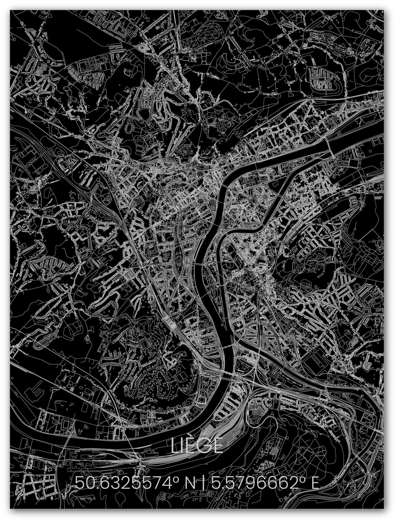 Metalen stadsplattegrond Luik-1