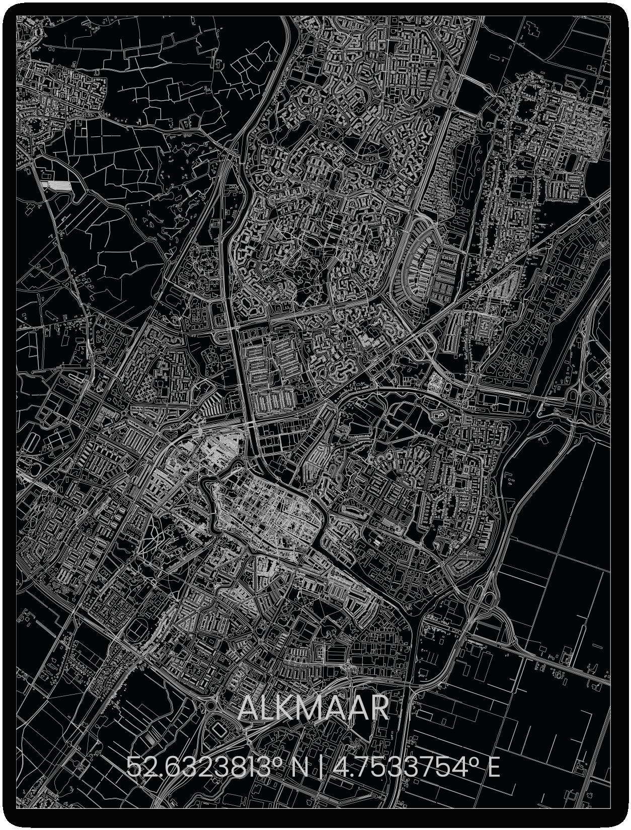 Metalen stadsplattegrond Alkmaar-1