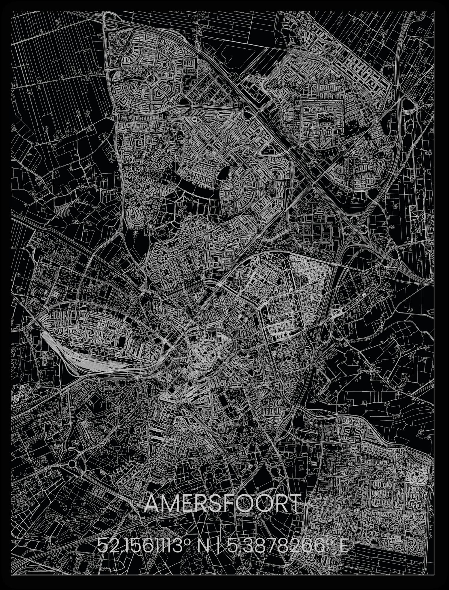 Metalen stadsplattegrond Amersfoort-1