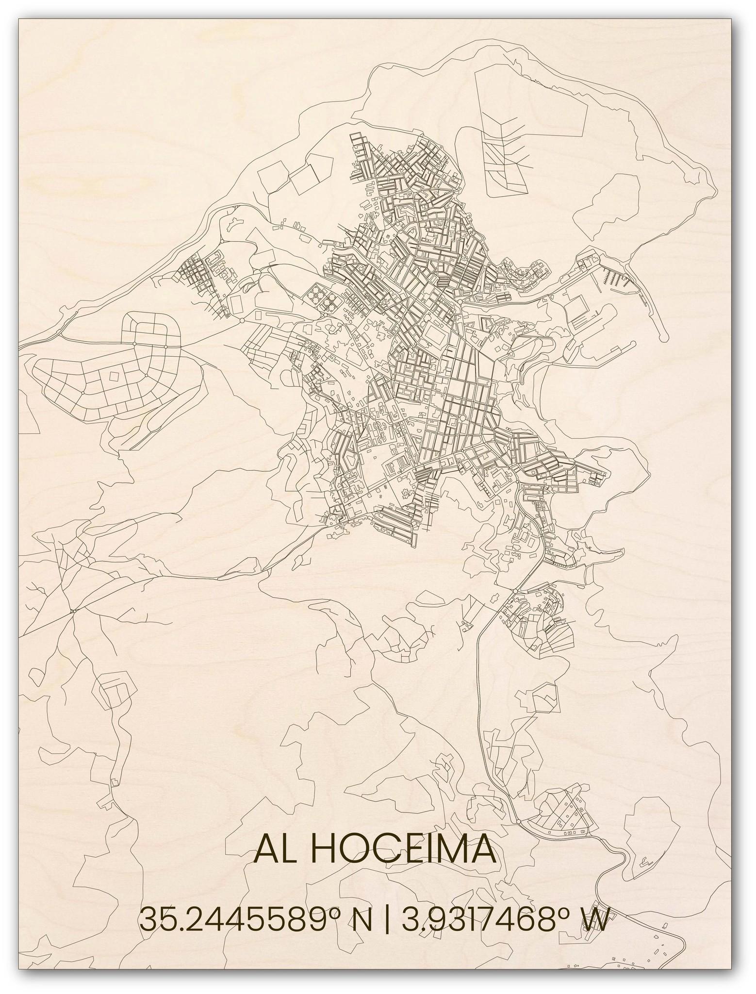 Houten stadsplattegrond Al Hoceima-1