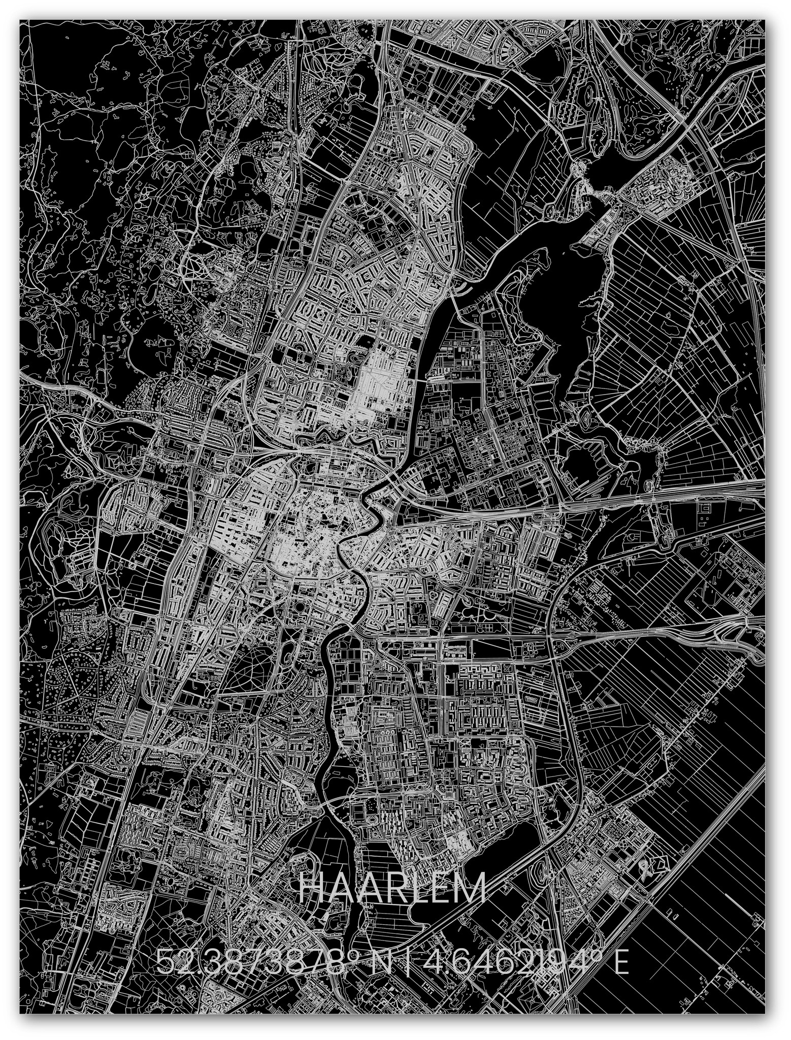 Metalen stadsplattegrond Haarlem-1