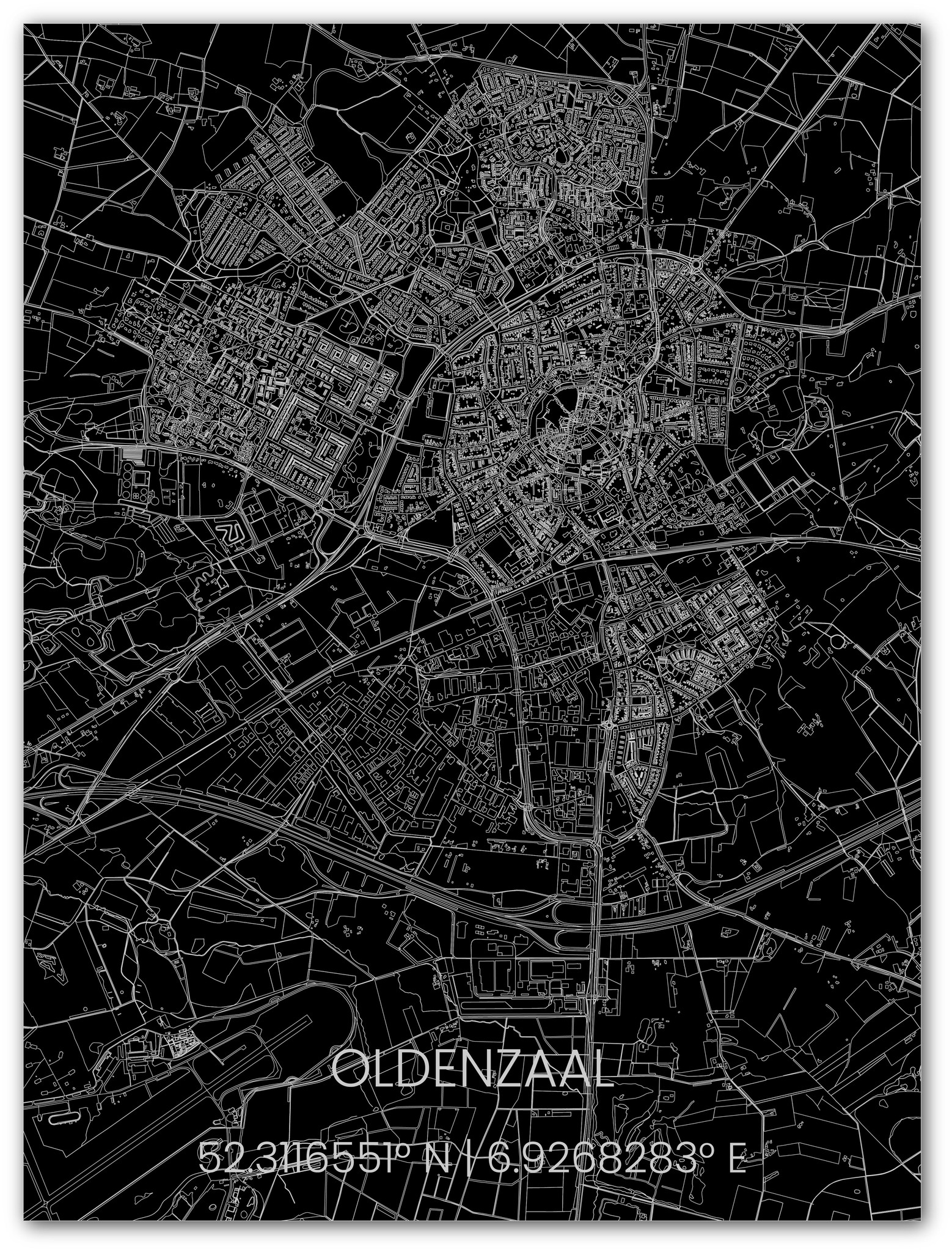 Metalen stadsplattegrond Oldenzaal-1