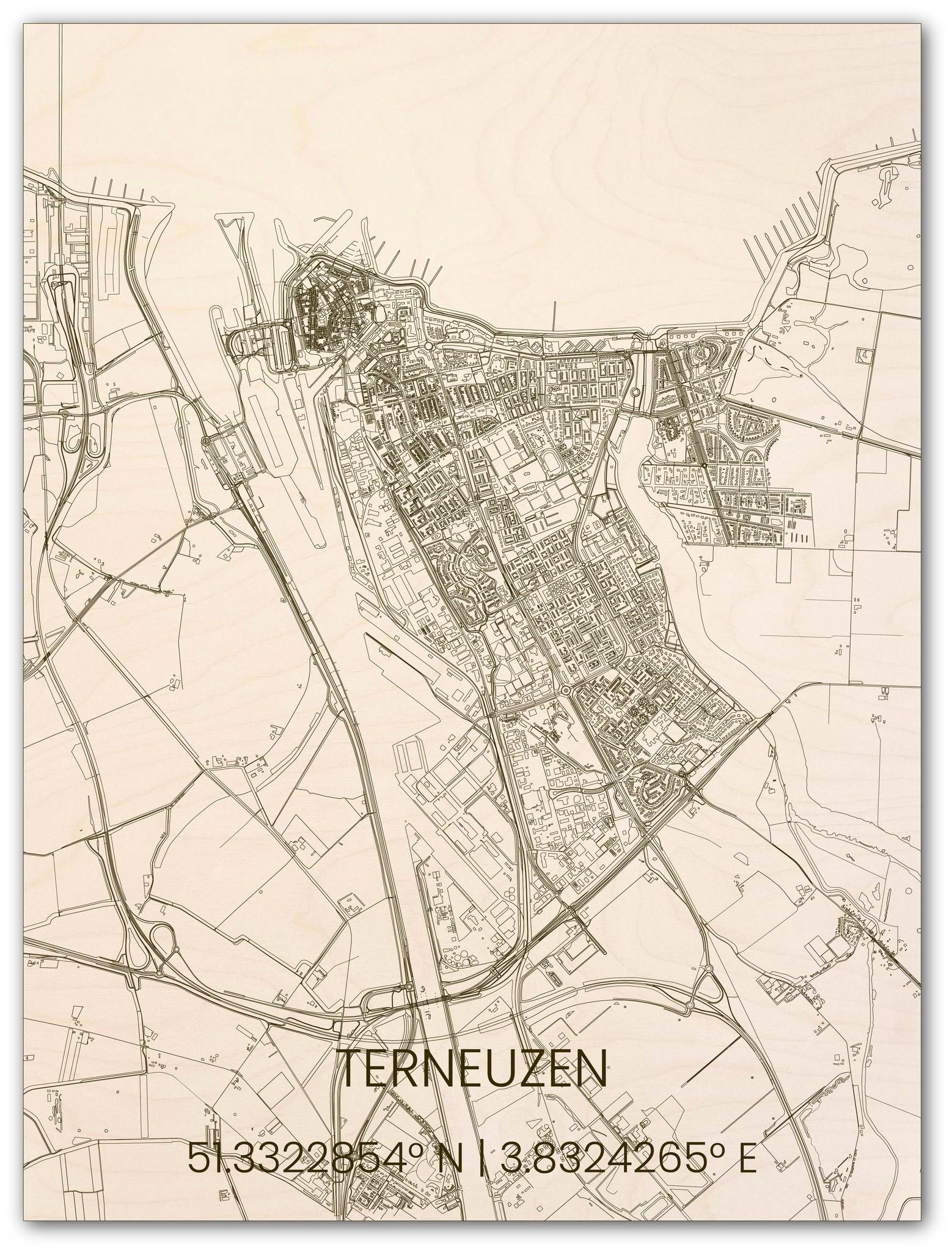 Houten stadsplattegrond Terneuzen-1