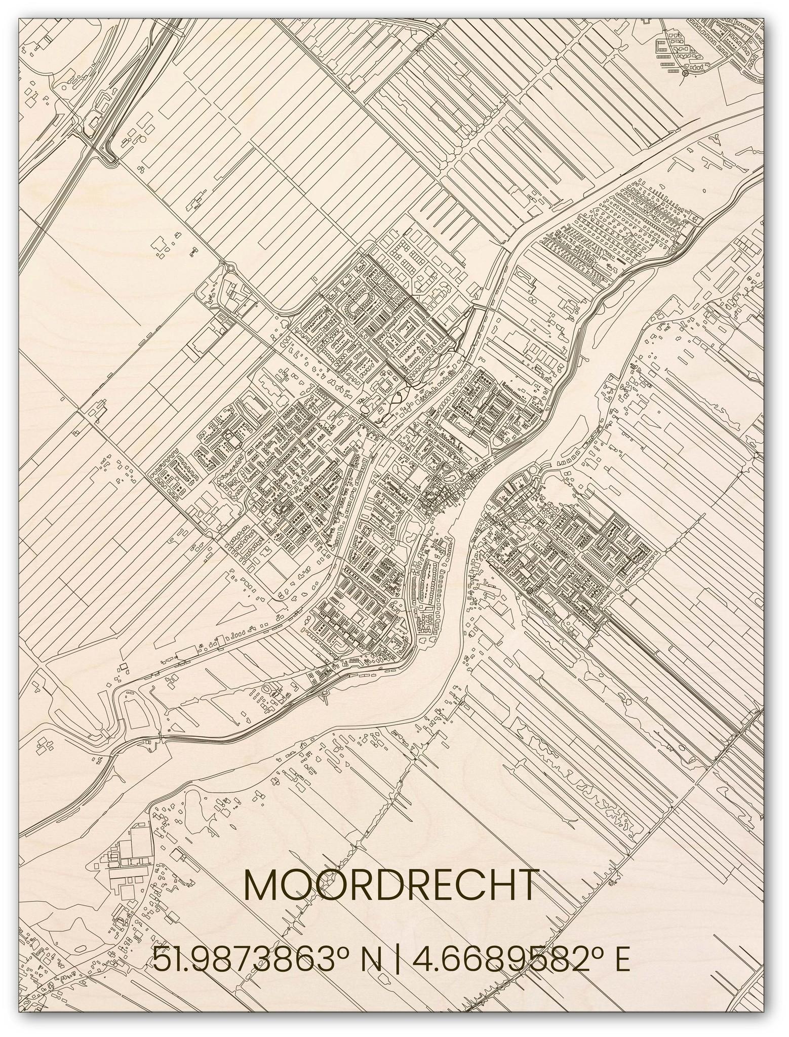 Houten stadsplattegrond Moordrecht-1