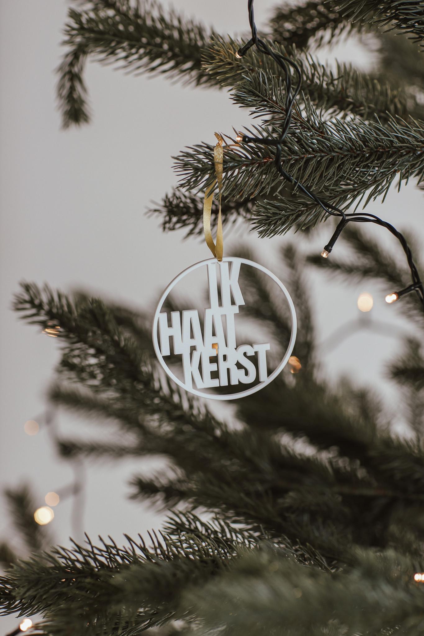 """Kerstbal """"Ik haat kerst""""-5"""
