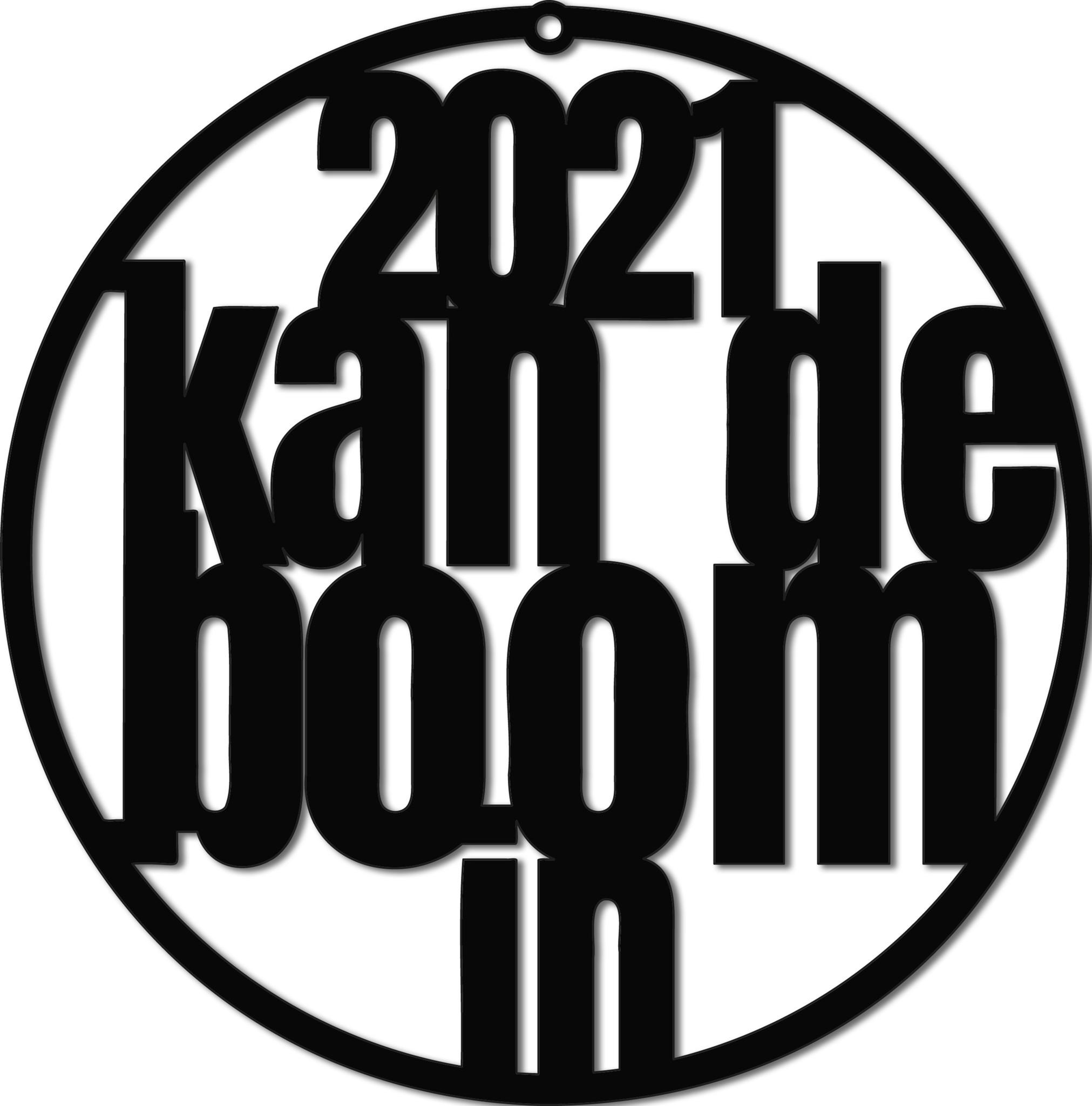 """Kerstbal """"2021 kan de boom in""""-1"""
