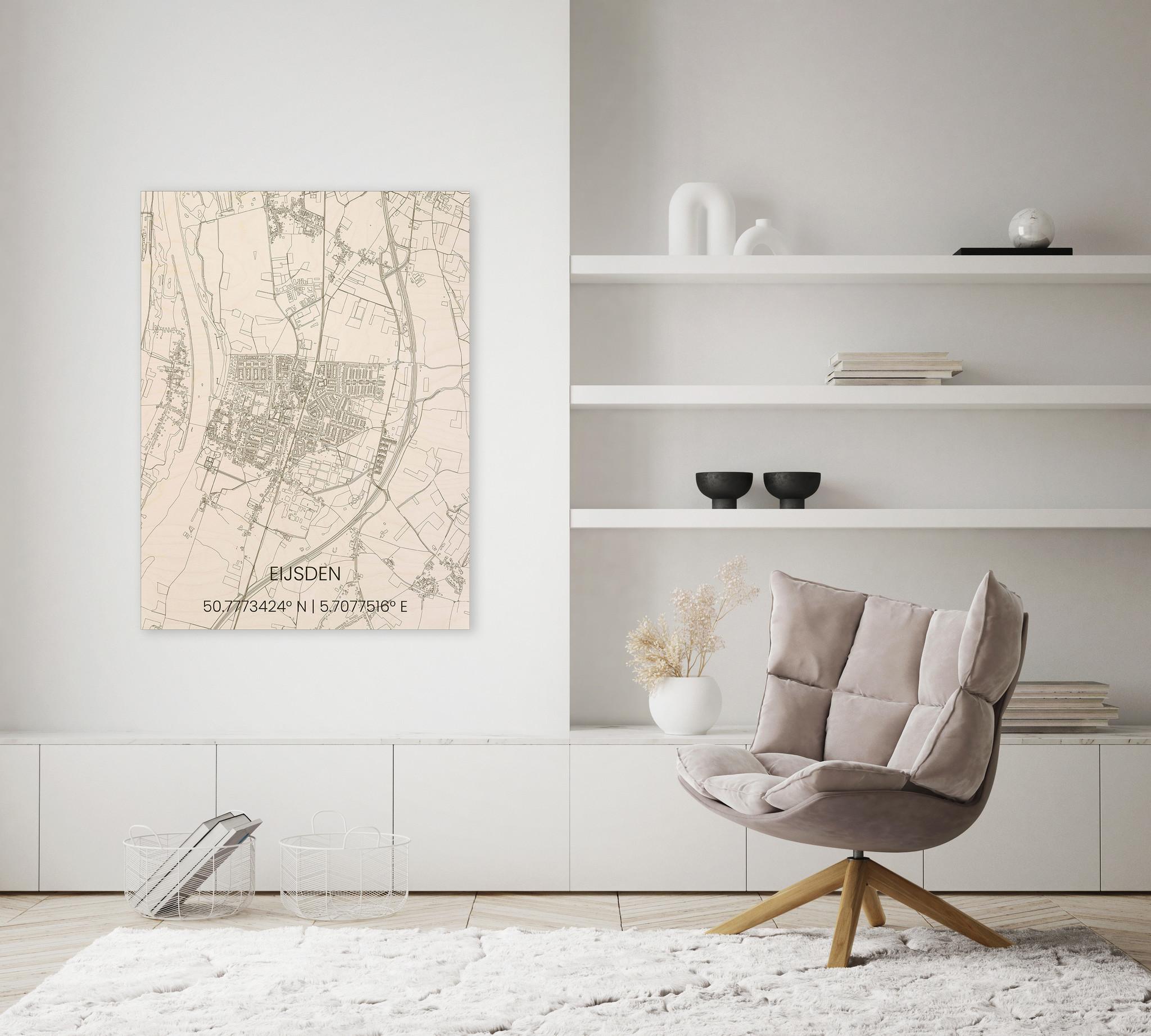 Houten stadsplattegrond Eijsden-2