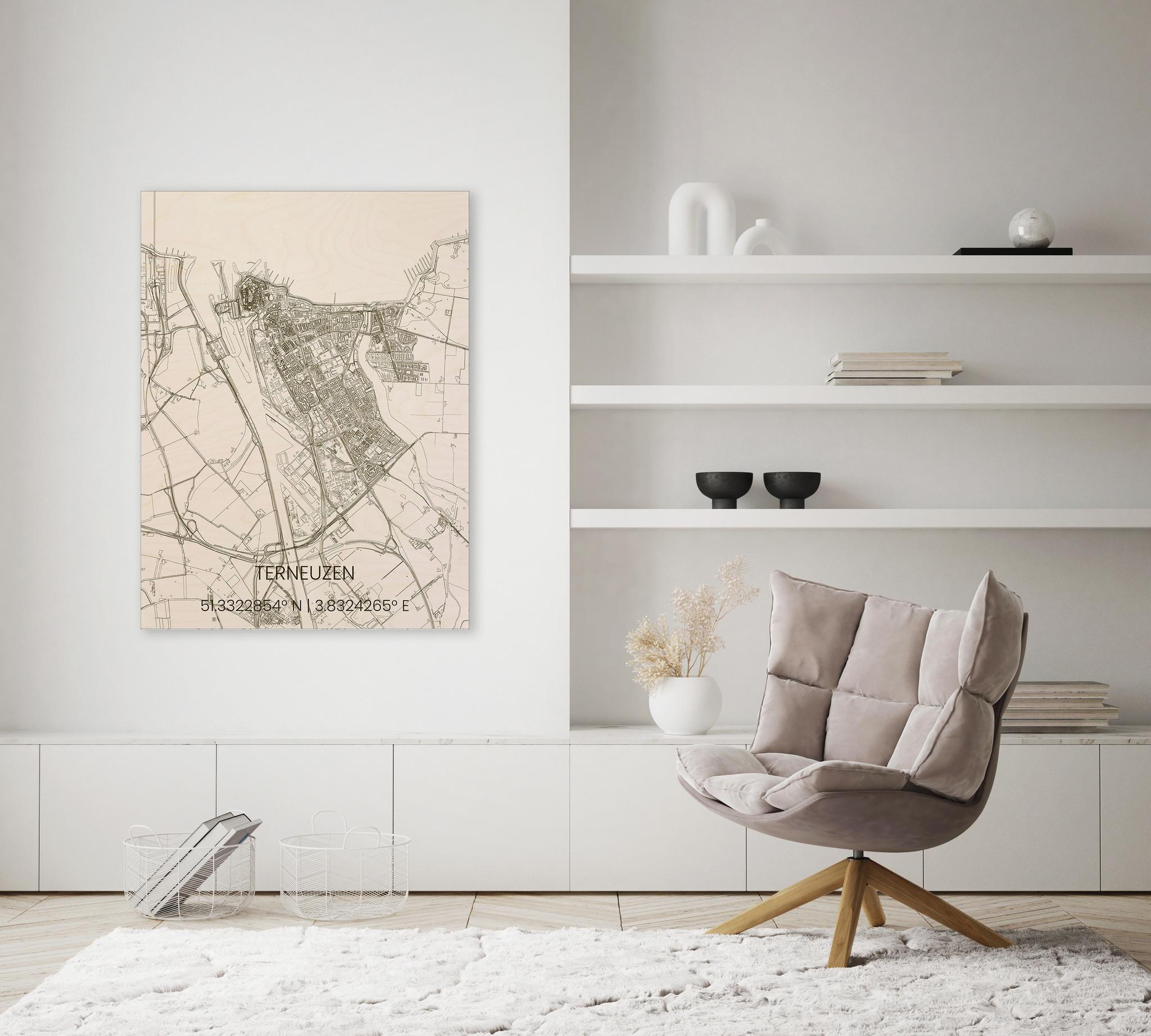 Houten stadsplattegrond Terneuzen-2