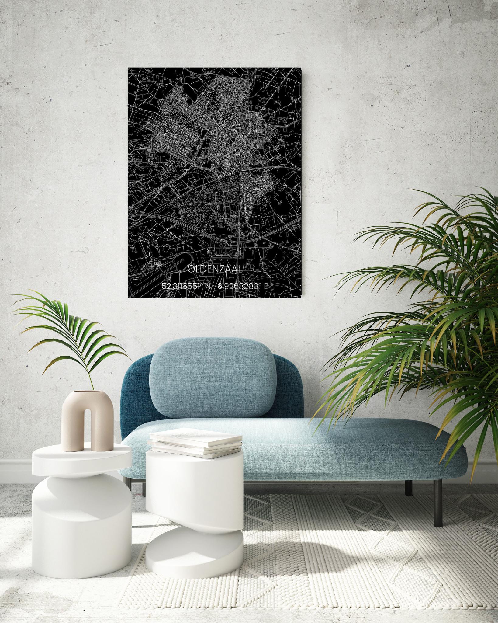 Metalen stadsplattegrond Oldenzaal-2