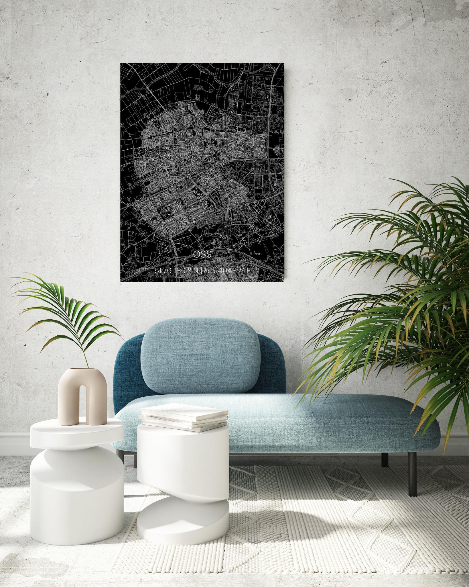 Citymap Oss   Aluminium wanddecoratie-2