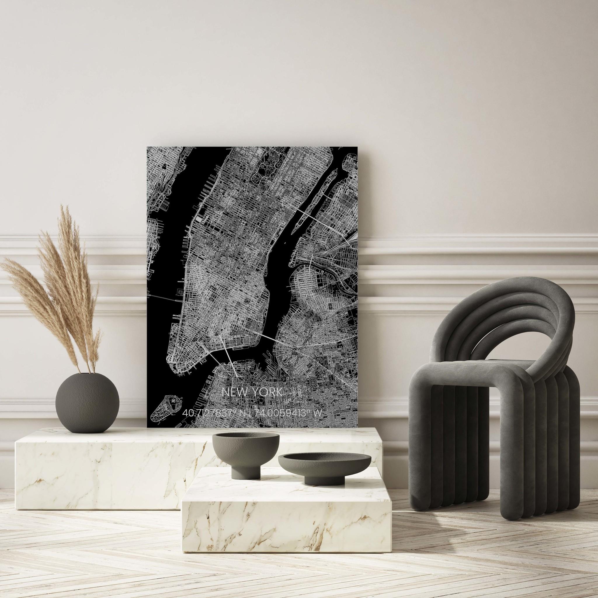 Metal citymap New York-2