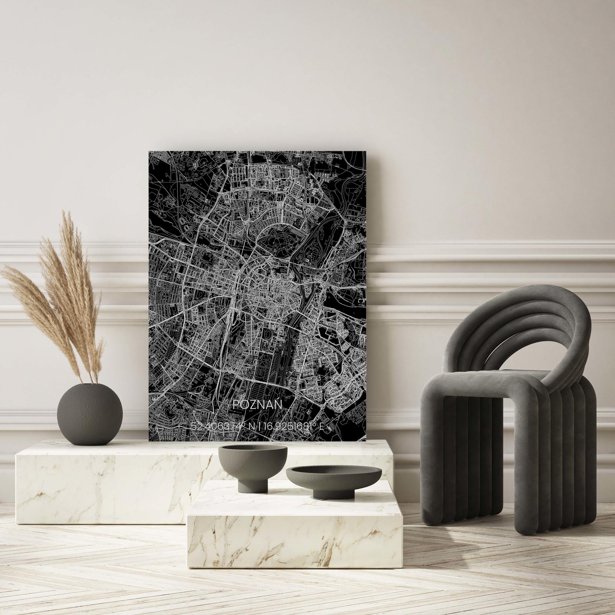 Stadtkarte Metal Poznań-2