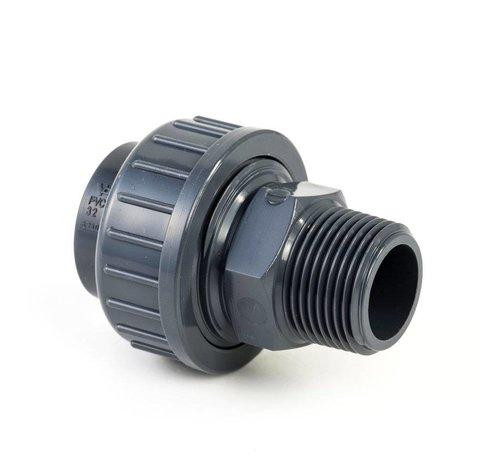 3-delige koppeling 1'' x 32mm  voor aanzuig en persleiding Spoelpomp