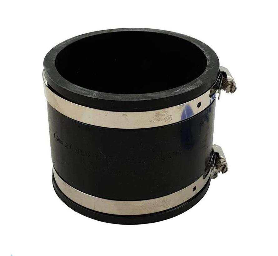 Flexible Kupplungen bieten zahlreiche Vorteile bei Verbindungen zwischen PVC-Rohrleitungen und insbesondere bei der Verbindung von PVC-Rohrleitungen mit nicht oder schlecht verklebbaren Materialien wie Edelstahl, PP, PE, Beton und Polyster.