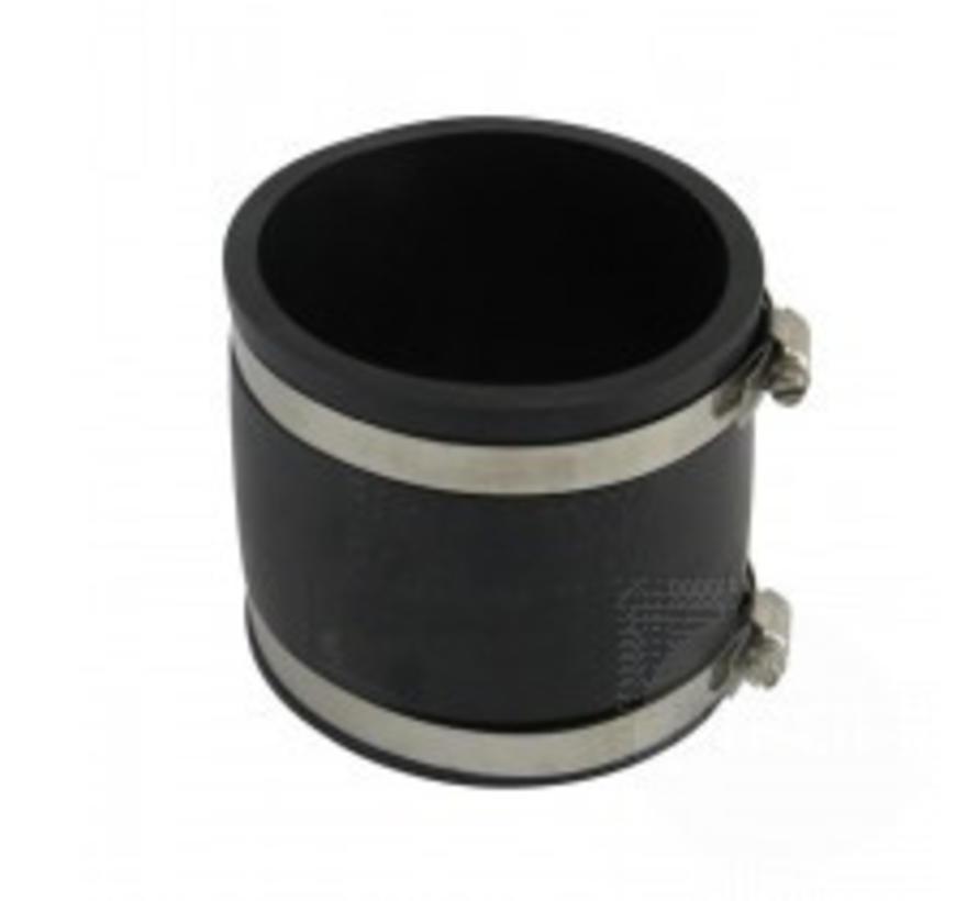 Flexible Kupplungen bieten zahlreiche Vorteile bei Verbindungen zwischen PVC-Rohrleitungen und insbesondere bei der Verbindung von PVC-Rohrleitungen mit nicht oder schlecht verklebbaren Materialien wie Edelstahl, PP, PE, Beton und Polyster.  - Copy