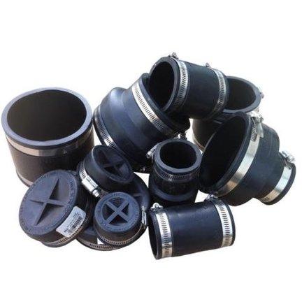 Die Muffe sind von sehr hoher Qualität mit robusten Schlauchschellen und für den wiederholten Einsatz geeignet.