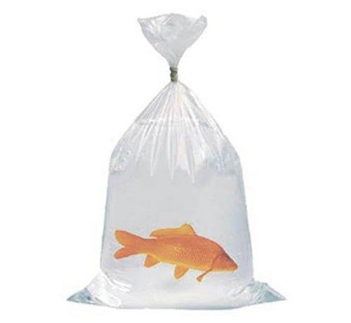 makoi Heavy duty vistransportzakken met schuin gesealde hoeken zodat er geen vissen in de hoeken van de zak kunnen komen.