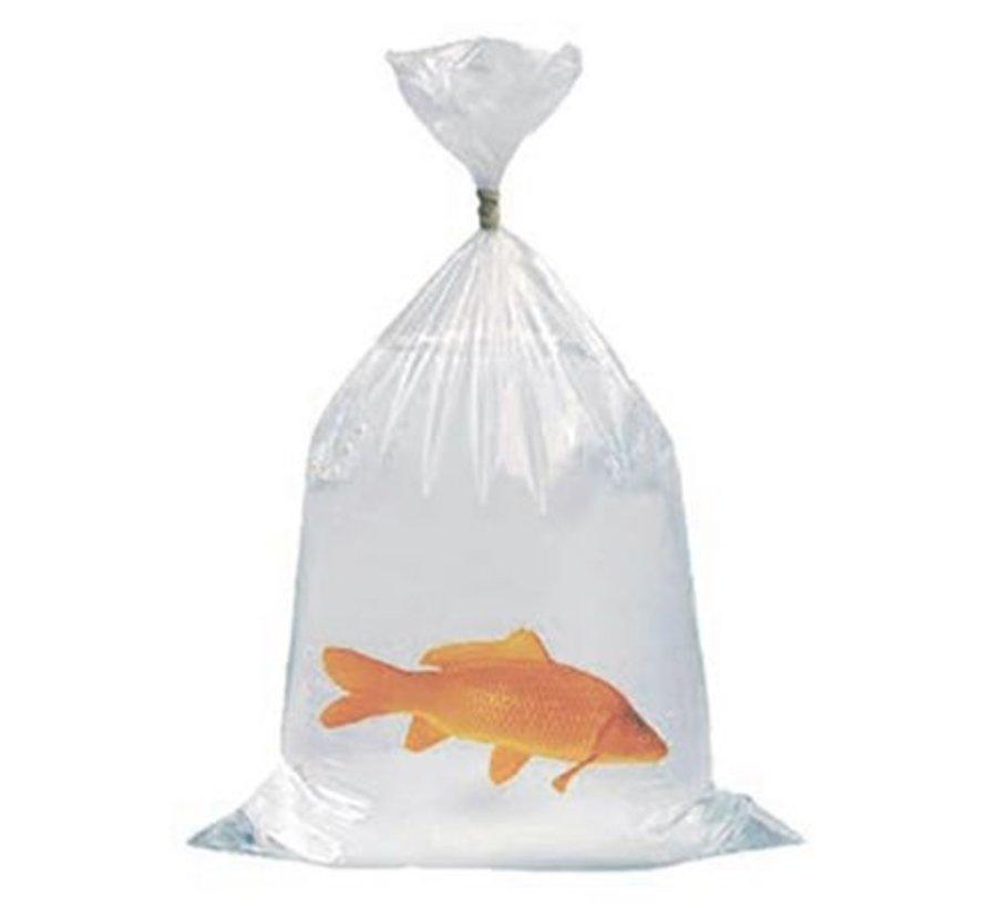 Heavy duty vistransportzakken met schuin gesealde hoeken zodat er geen vissen in de hoeken van de zak kunnen komen.
